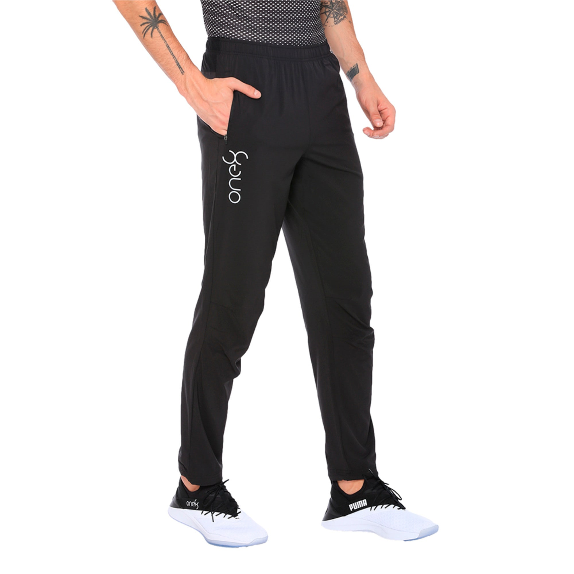Thumbnail 2 of one8 VK Men's Active Pants, Puma Black, medium-IND