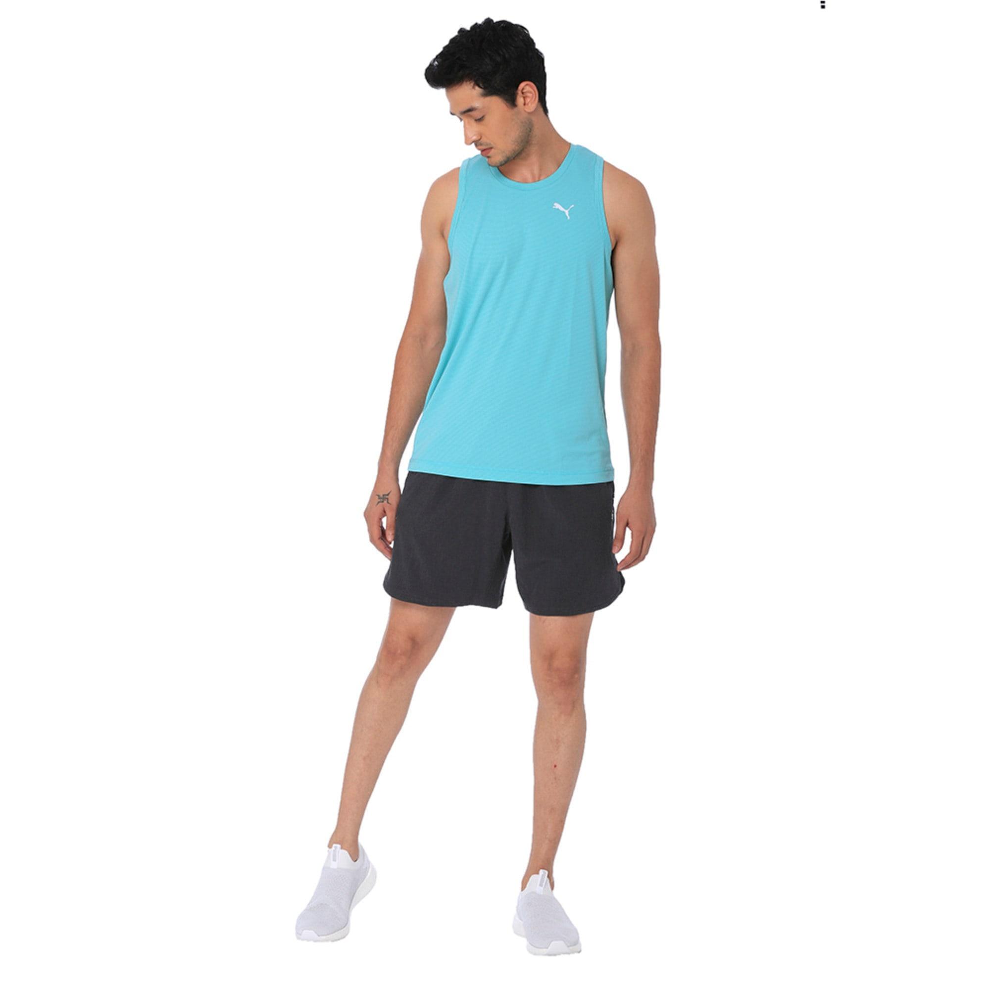 Thumbnail 1 of one8 VK Active Men's Singlet Tee, Blue Turquoise Heather, medium-IND