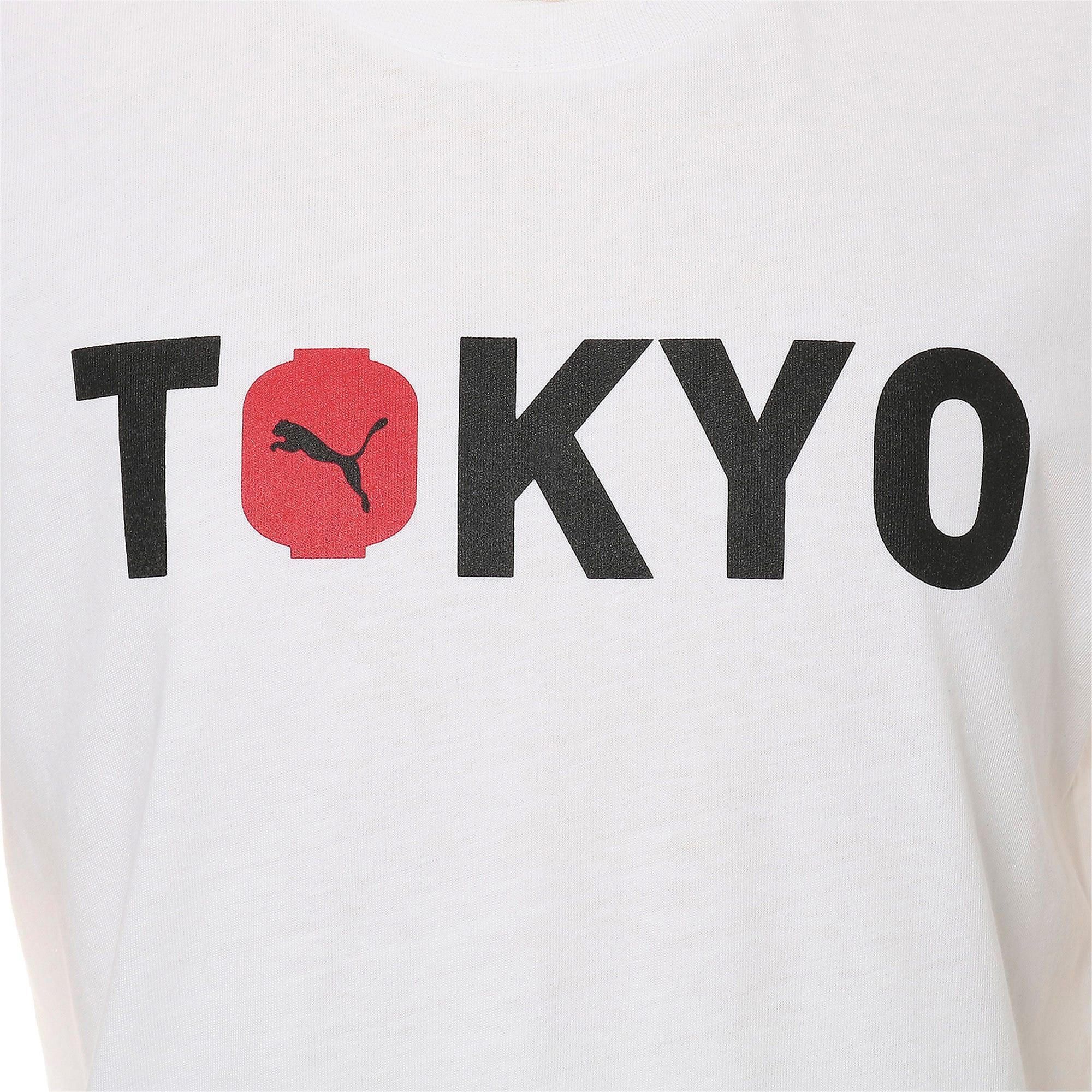Thumbnail 7 of キッズ シティー 半袖 Tシャツ TOKYO 東京, Puma White, medium-JPN