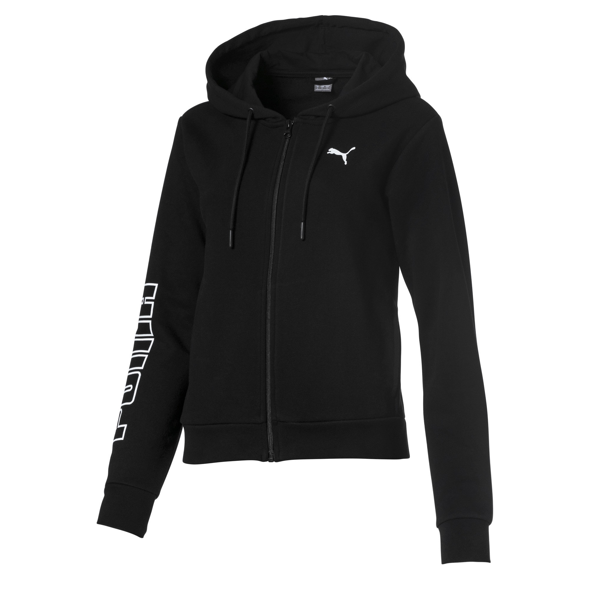 Thumbnail 1 of Full Zip Hooded Women's Sweat Jacket, Puma Black, medium
