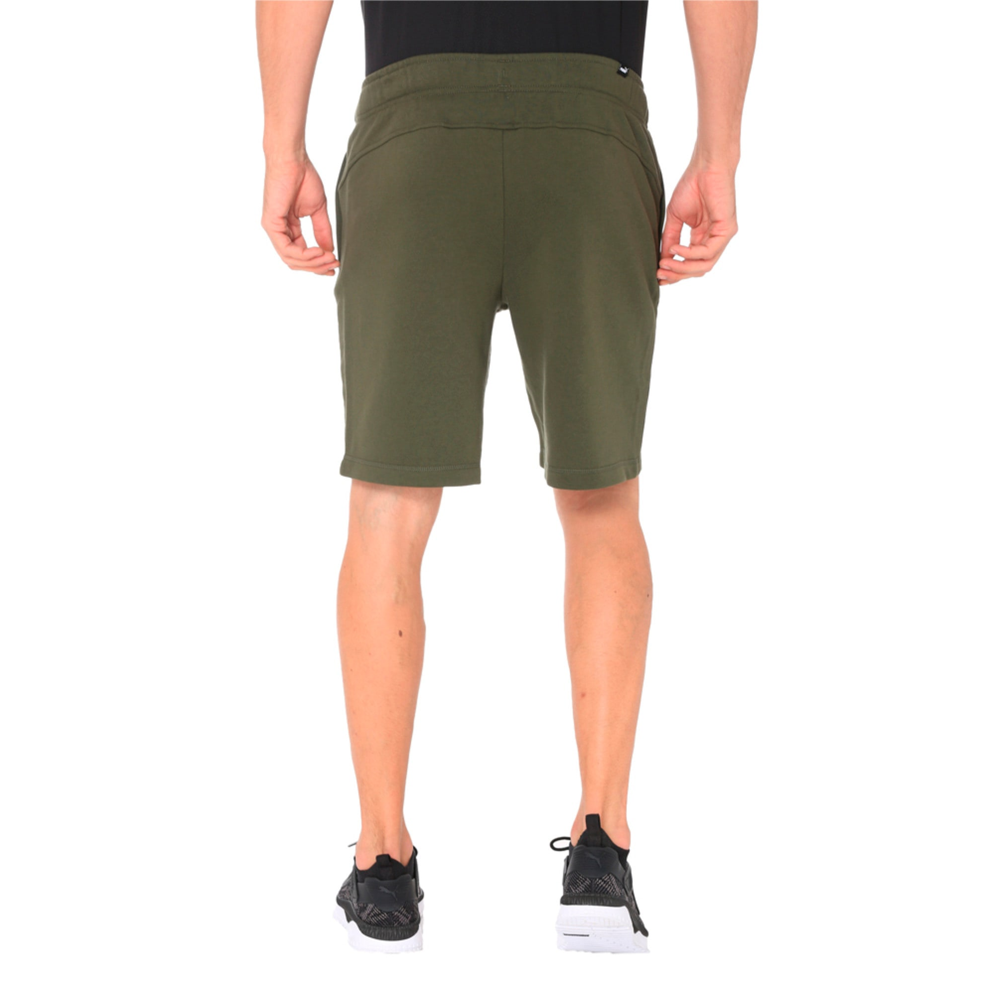 Thumbnail 5 of Zippered Terry Shorts, Forest Night, medium-IND