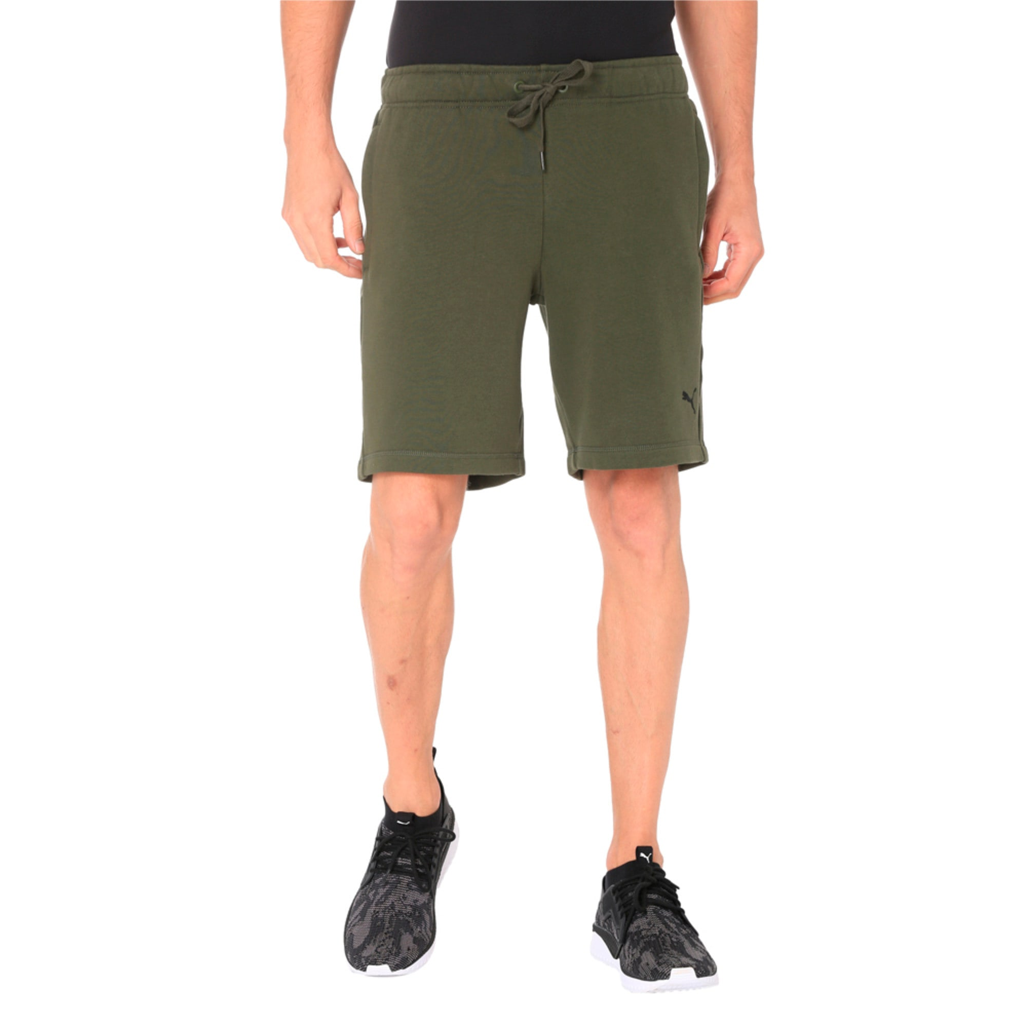 Thumbnail 4 of Zippered Terry Shorts, Forest Night, medium-IND