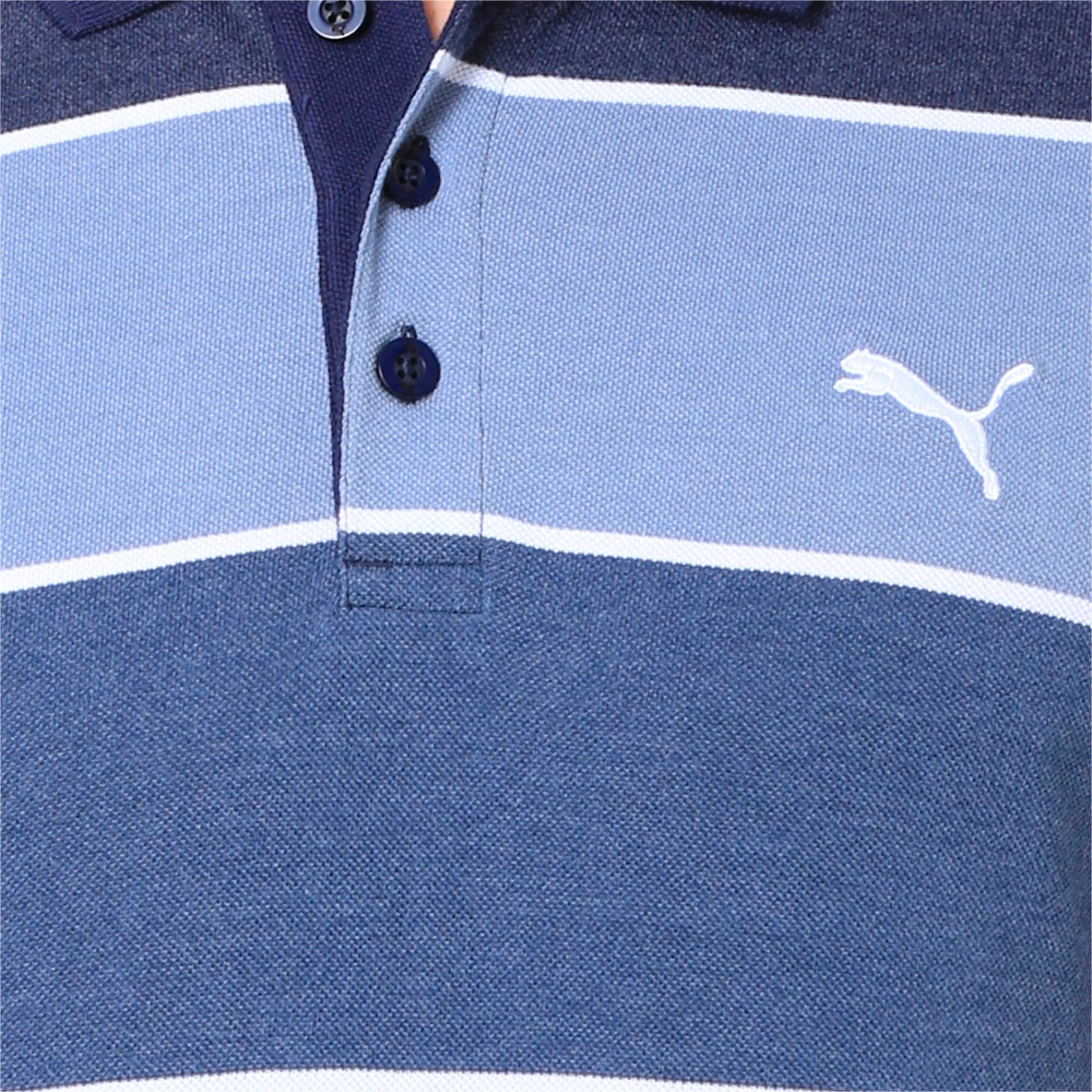 Thumbnail 6 of COLOR BLOCKED POLO M, Peacoat Heather, medium-IND