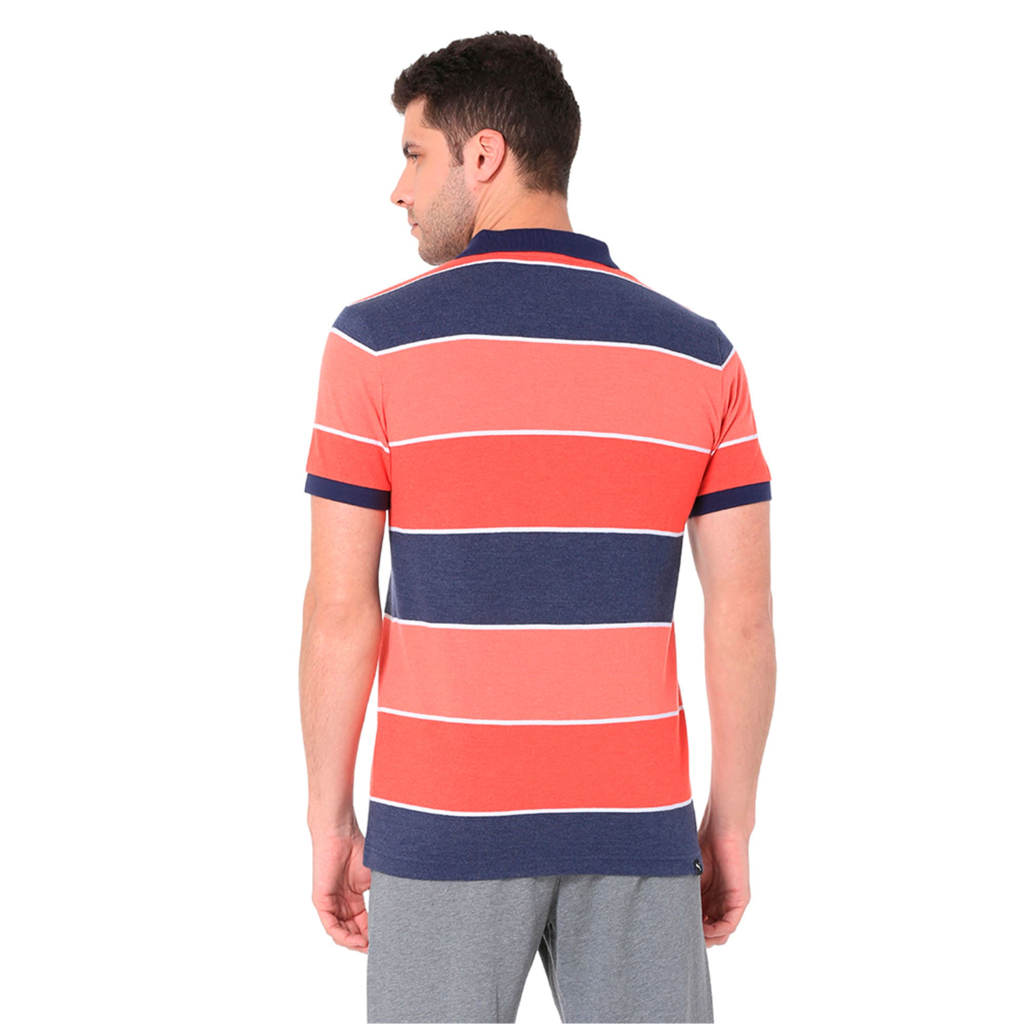 Thumbnail 8 of COLOR BLOCKED POLO M, Flame Scarlet Heather, medium-IND