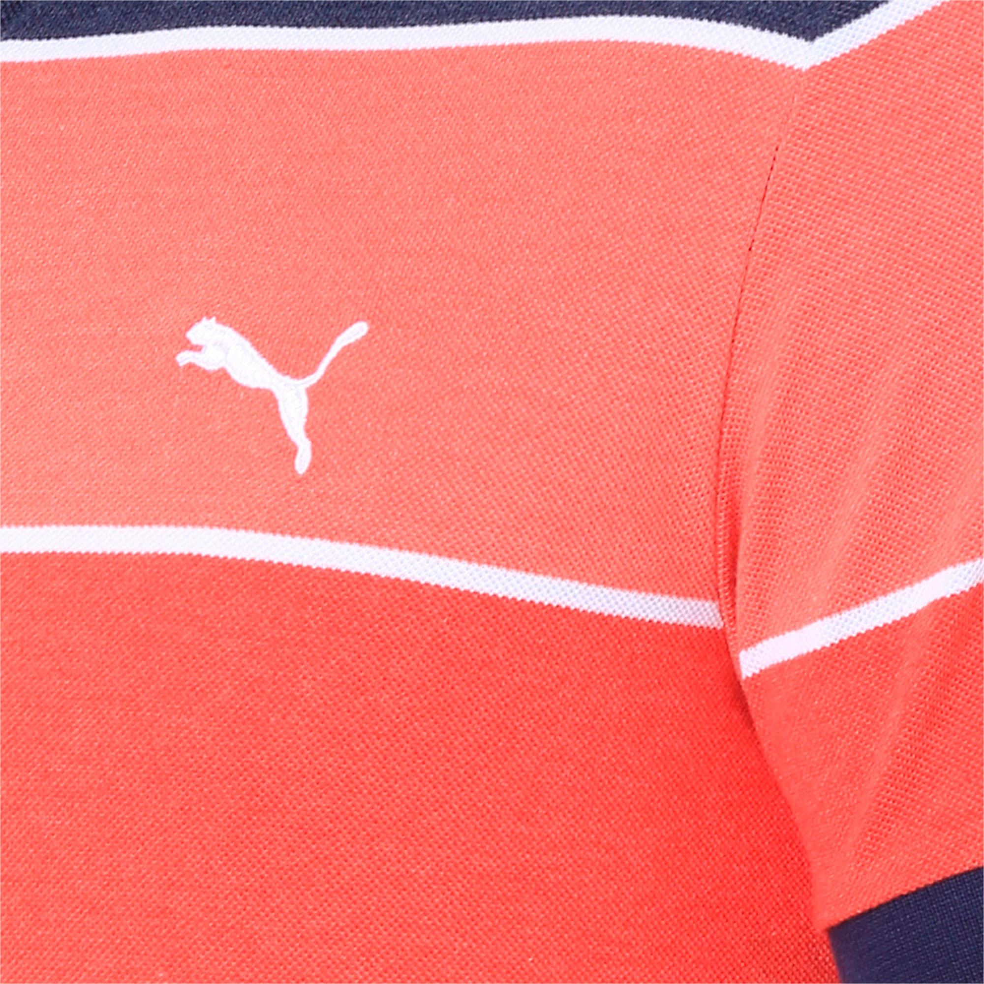 Thumbnail 6 of COLOR BLOCKED POLO M, Flame Scarlet Heather, medium-IND