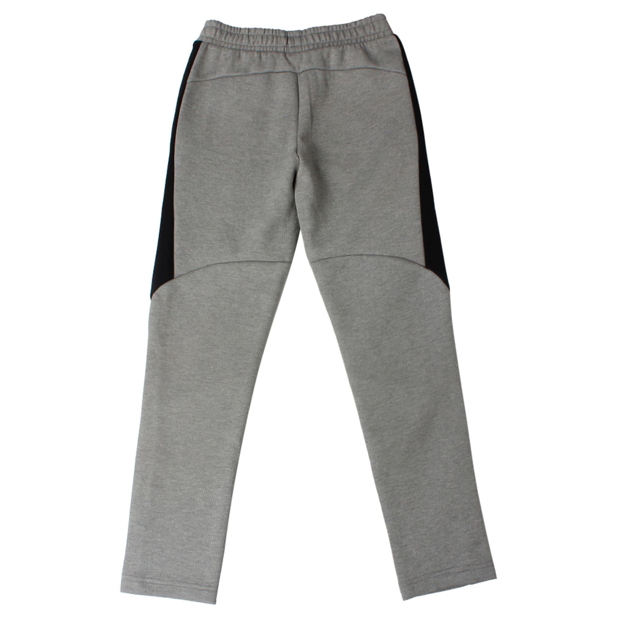 Thumbnail 2 of Evostripe Move Boys' Pants, Medium Gray Heather, medium-IND