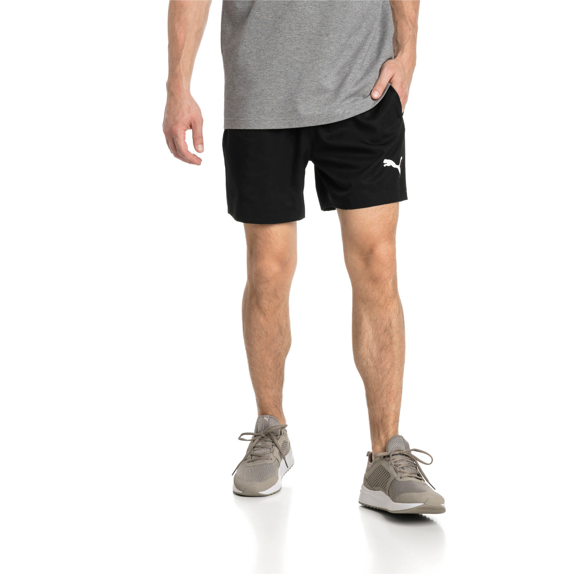 "Thumbnail 1 of Active Woven 5"" Men's Training Shorts, Puma Black, medium"
