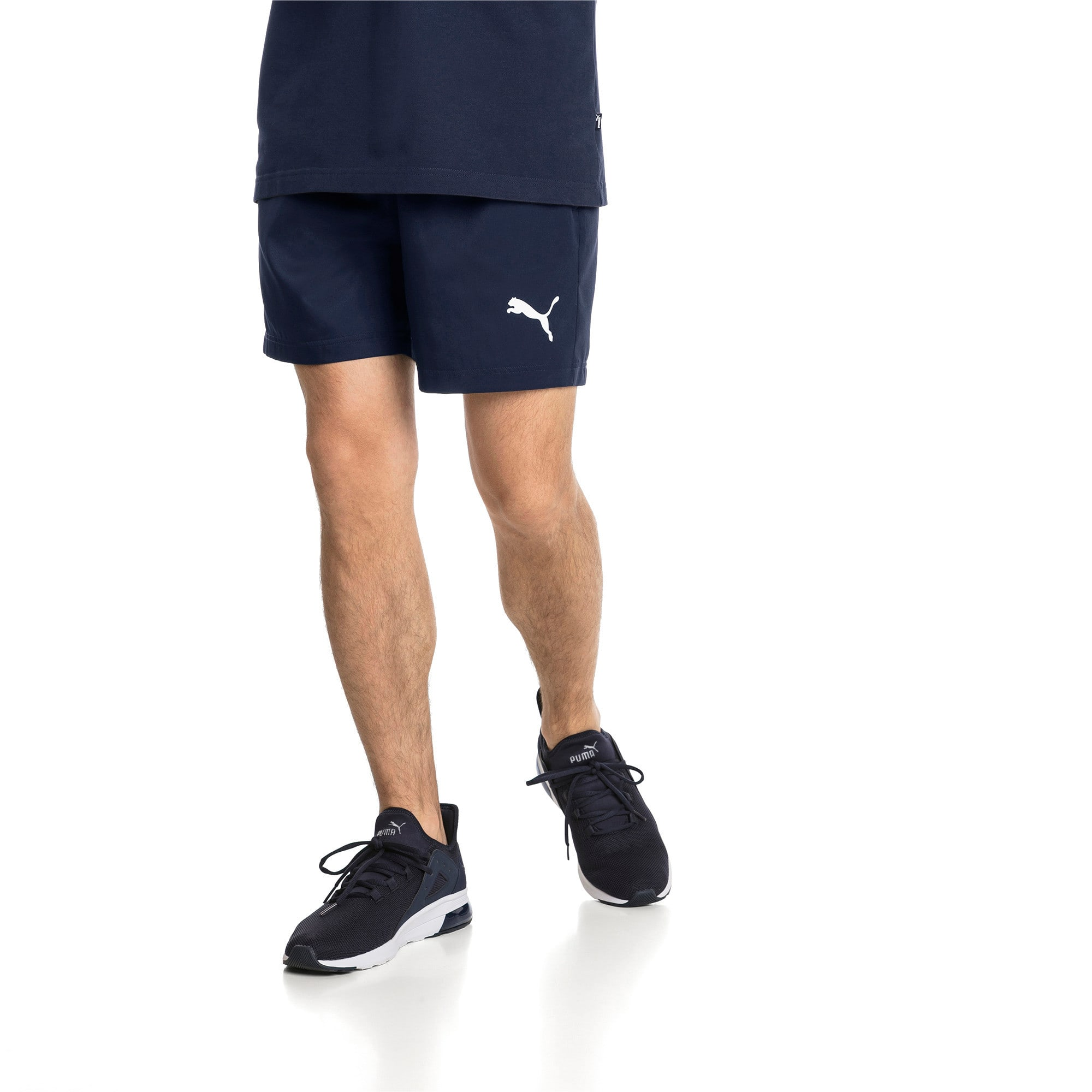 "Thumbnail 1 of Active Woven 5"" Men's Training Shorts, Peacoat, medium"