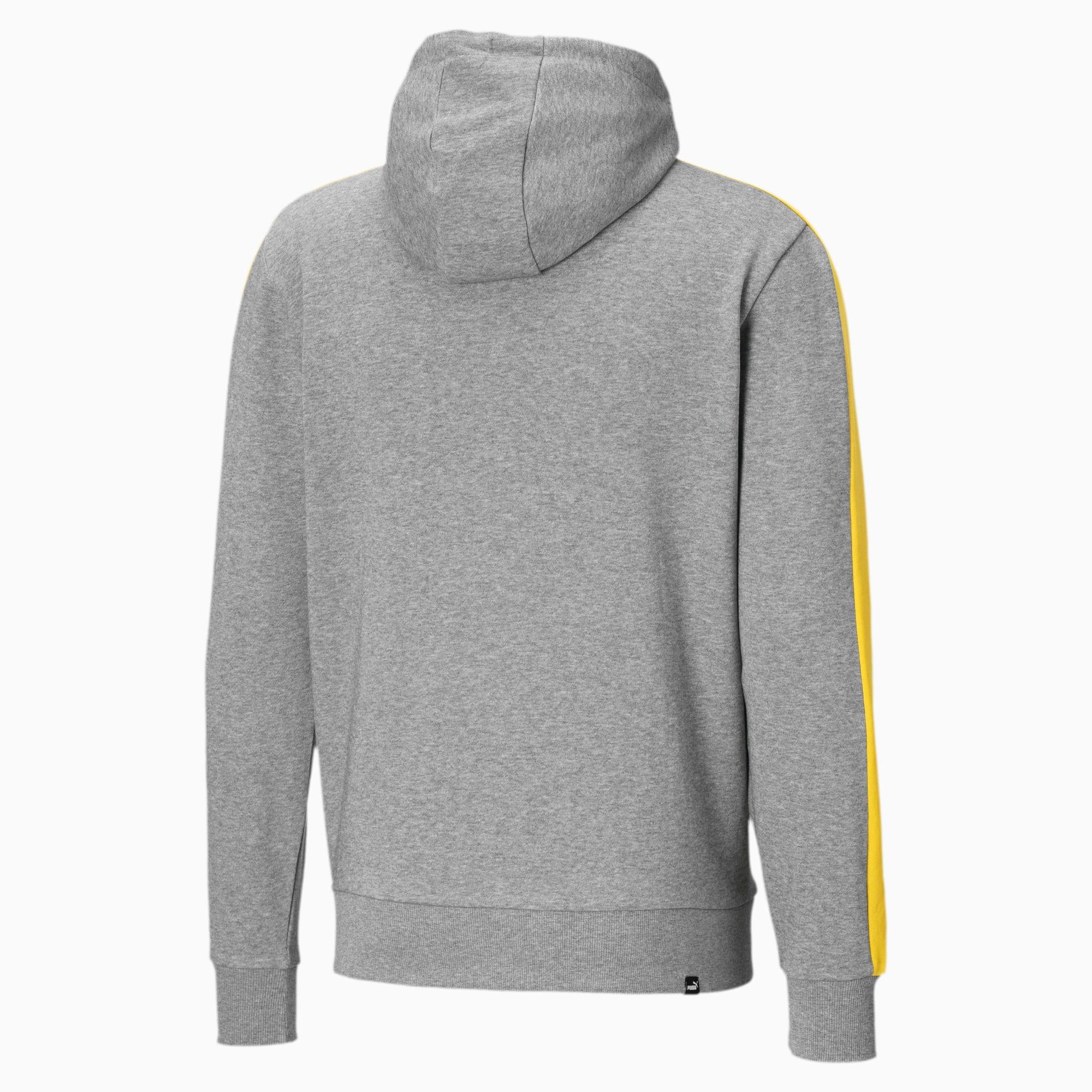 Puma Hoodie, Logo Design, Kontrast Kapuze, für Herren grau