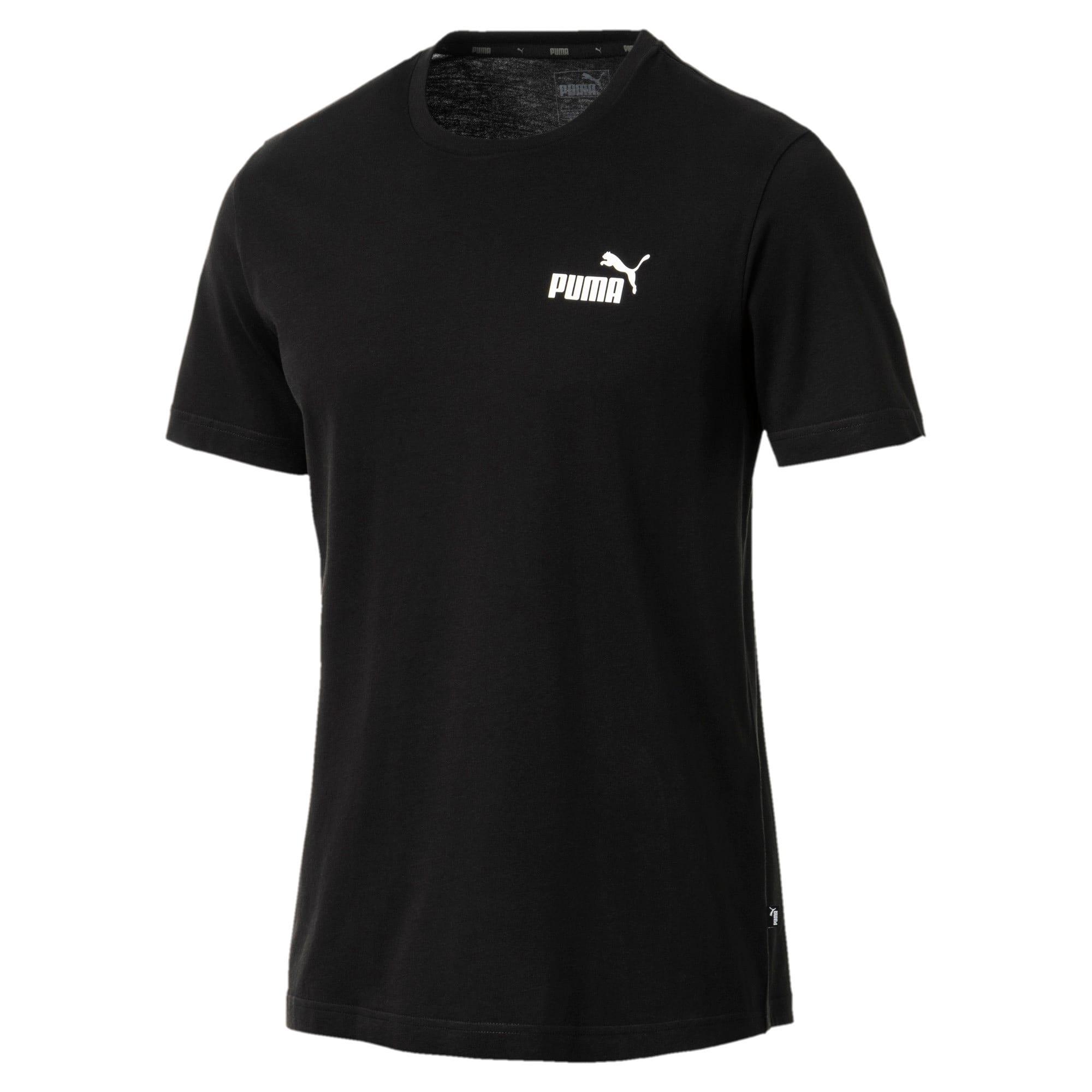 Thumbnail 1 of T-shirt con logo piccolo Essentials uomo, Cotton Black, medium