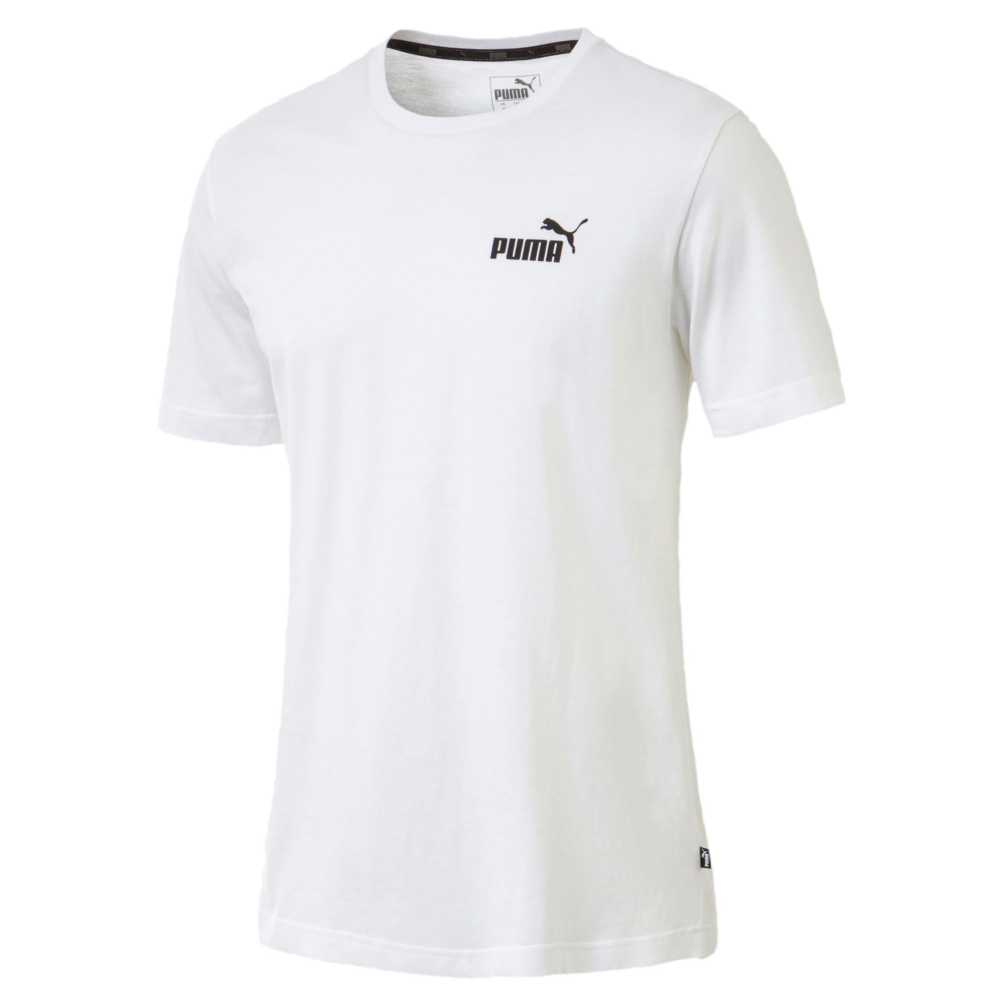 Thumbnail 1 of T-shirt con logo piccolo Essentials uomo, Puma White, medium