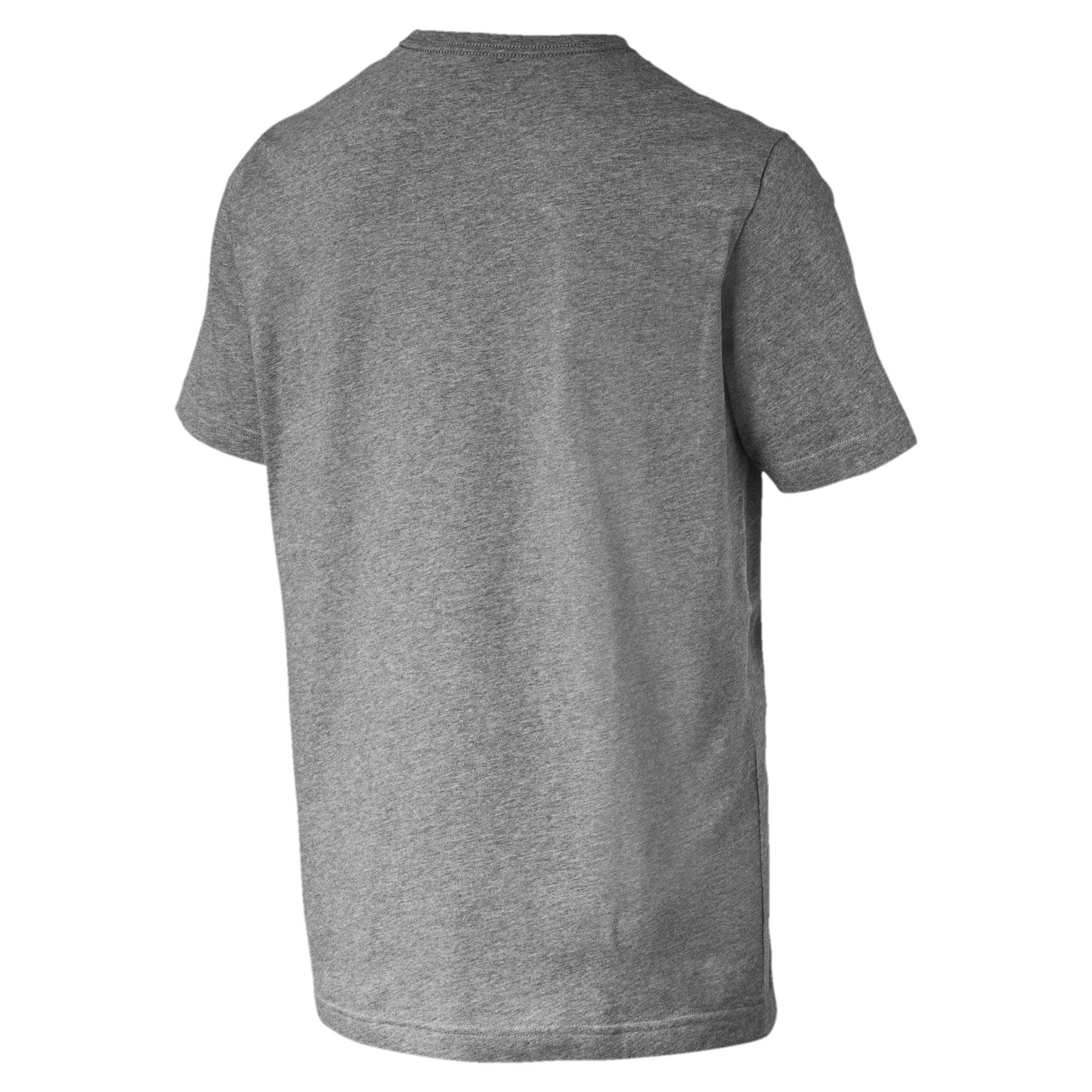 Thumbnail 5 of T-shirt con logo piccolo Essentials uomo, Medium Gray Heather-_Cat, medium
