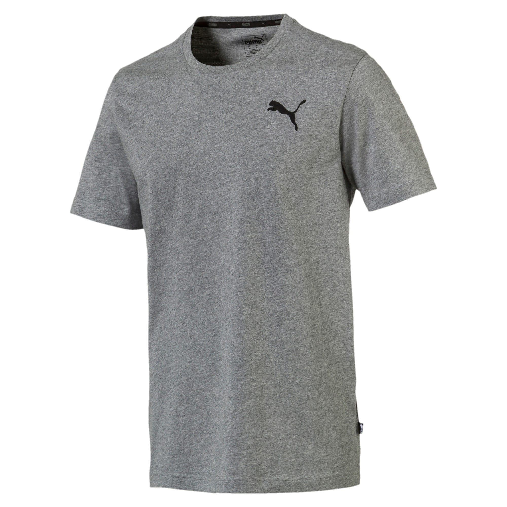 Thumbnail 4 of T-shirt con logo piccolo Essentials uomo, Medium Gray Heather-_Cat, medium