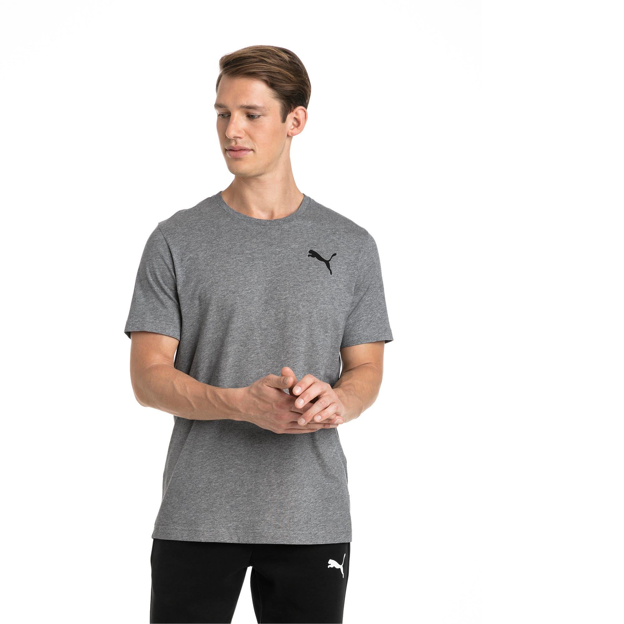 Thumbnail 1 of T-shirt con logo piccolo Essentials uomo, Medium Gray Heather-_Cat, medium