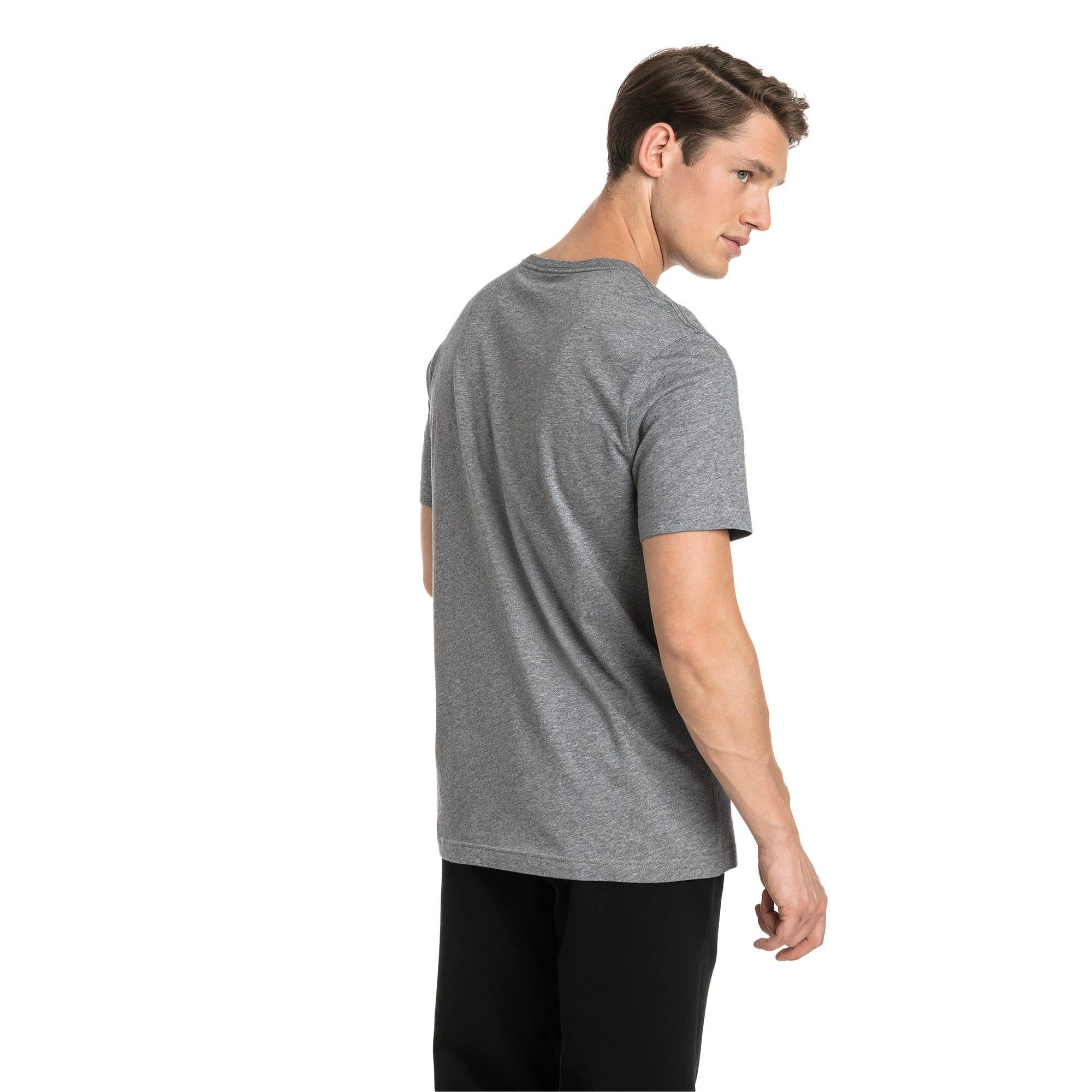 Thumbnail 2 of T-shirt con logo piccolo Essentials uomo, Medium Gray Heather-_Cat, medium