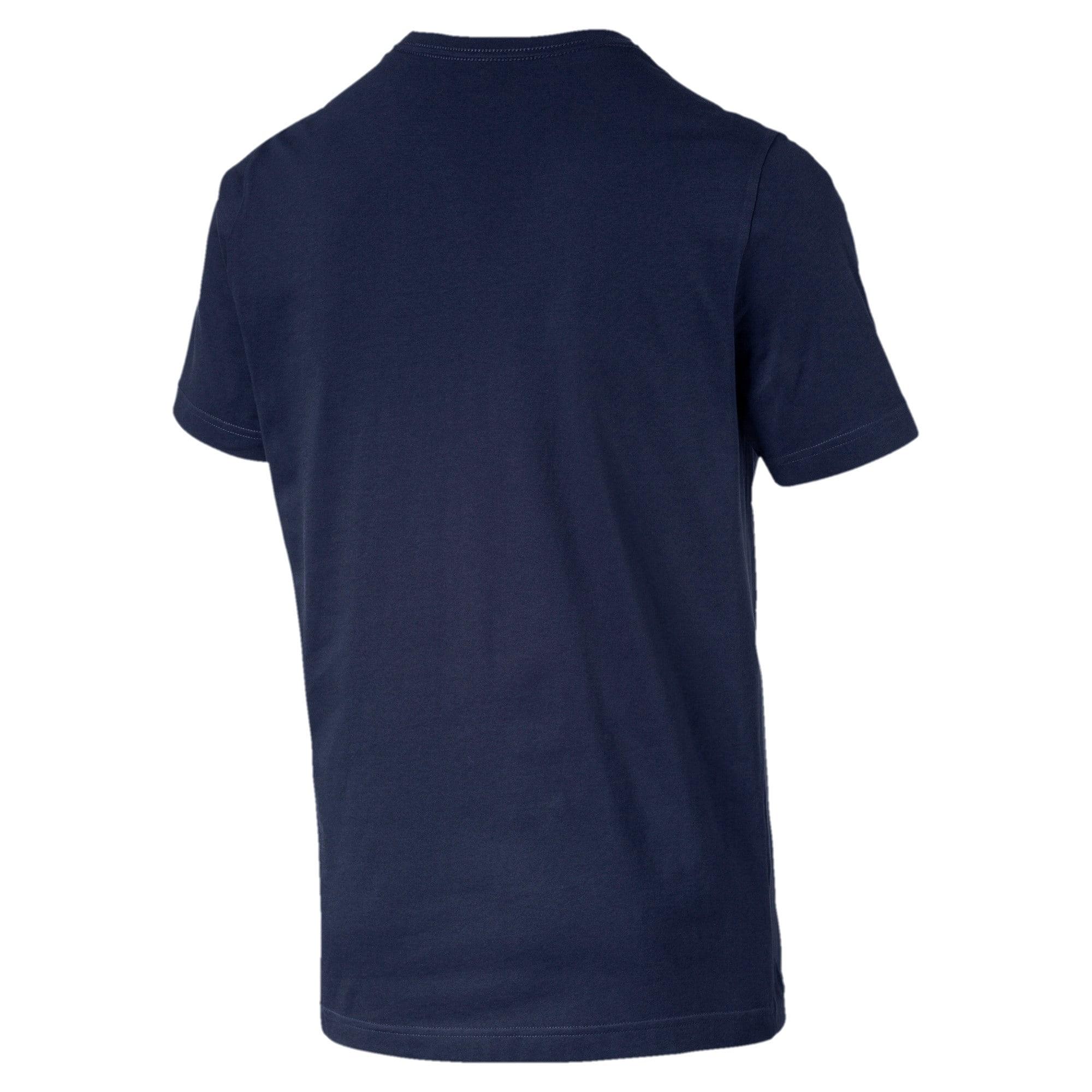 Thumbnail 5 of T-shirt con logo piccolo Essentials uomo, Peacoat-_Cat, medium