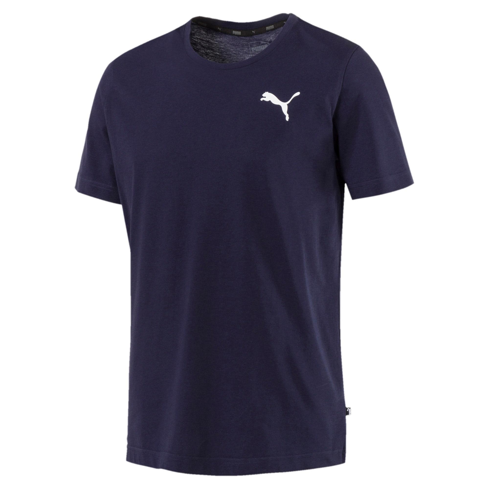 Thumbnail 4 of T-shirt con logo piccolo Essentials uomo, Peacoat-_Cat, medium