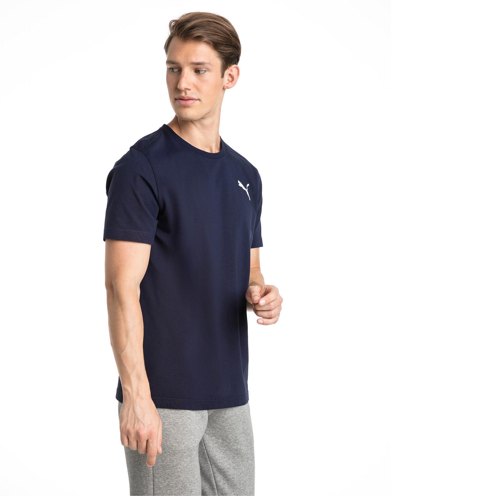 Thumbnail 1 of T-shirt con logo piccolo Essentials uomo, Peacoat-_Cat, medium