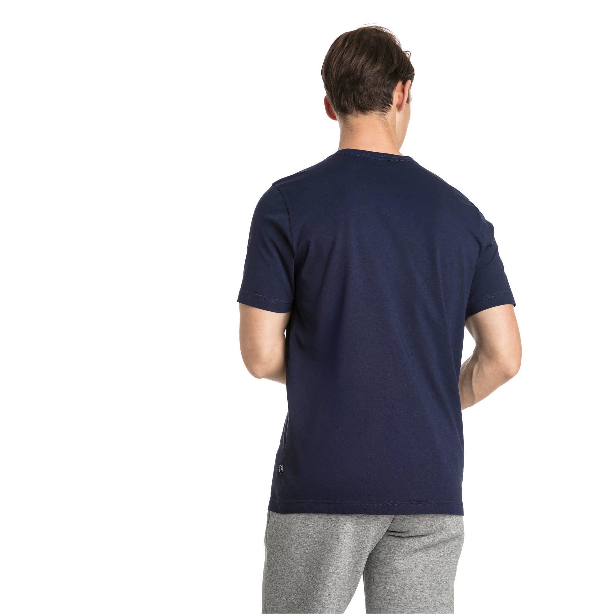 Thumbnail 2 of T-shirt con logo piccolo Essentials uomo, Peacoat-_Cat, medium
