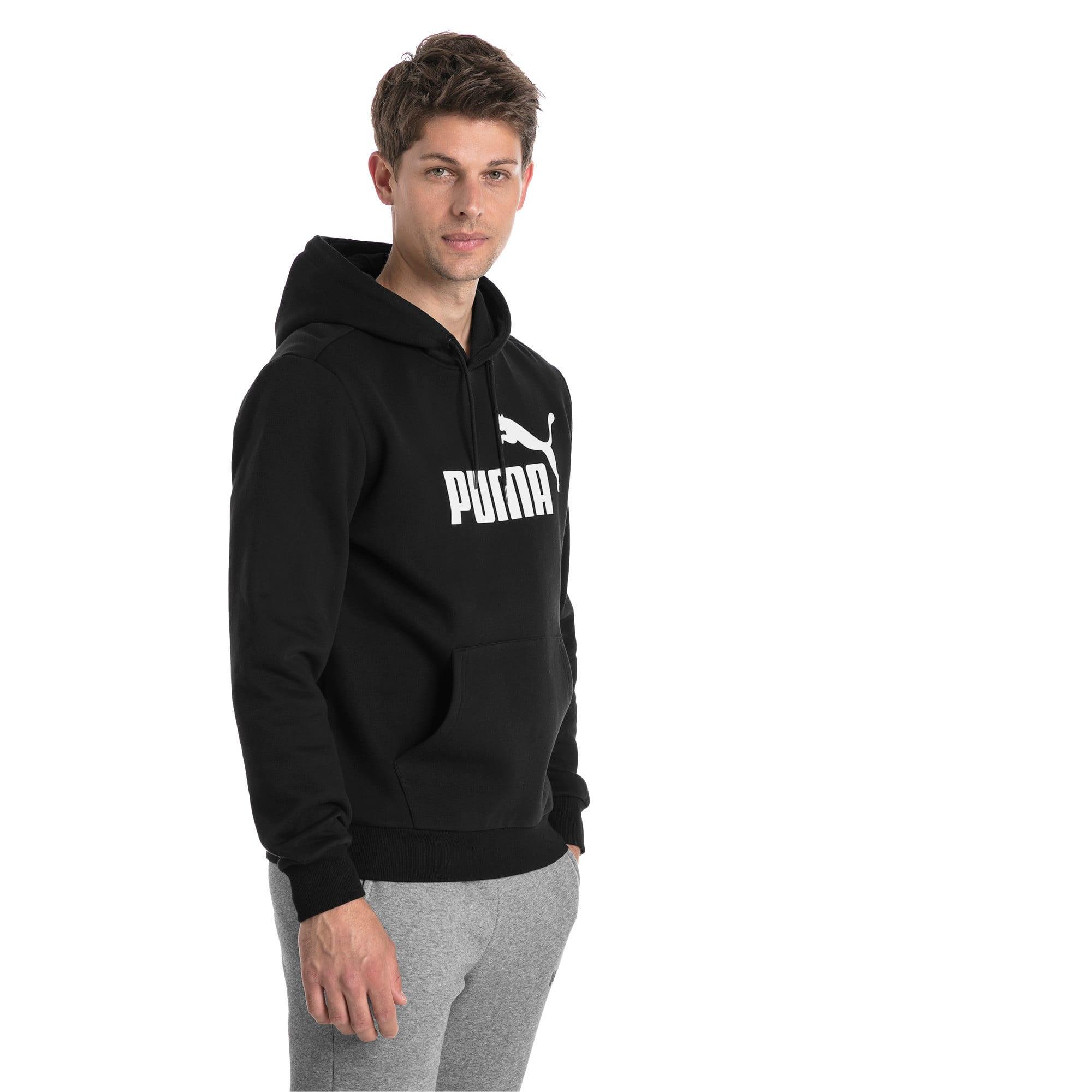 Thumbnail 1 van Essentials fleece hoodie voor mannen, Puma Black, medium