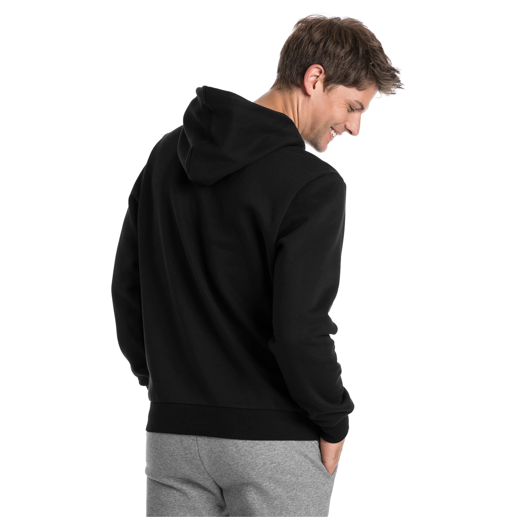 Thumbnail 2 van Essentials fleece hoodie voor mannen, Puma Black, medium