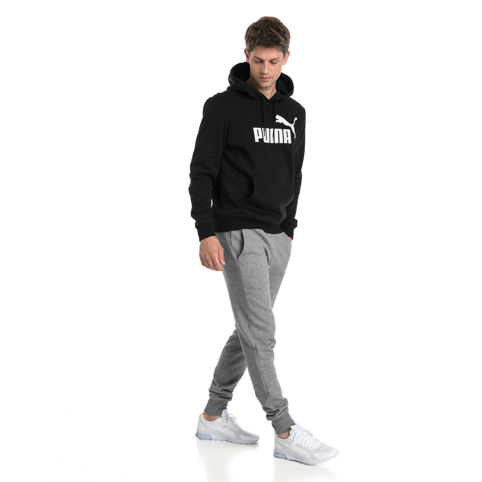 Thumbnail 3 van Essentials fleece hoodie voor mannen, Puma Black, medium