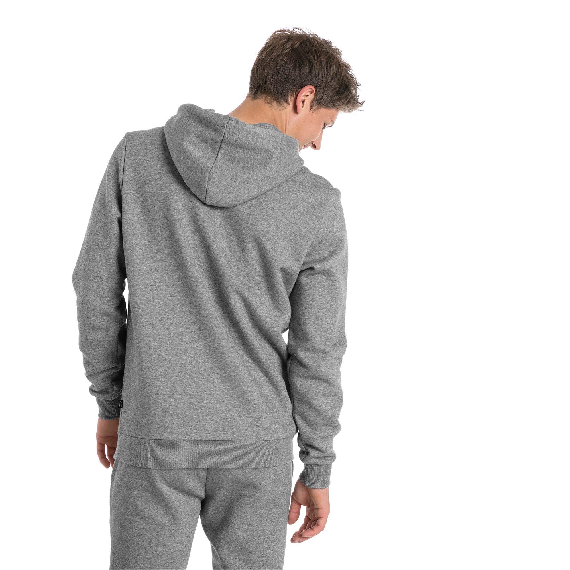 Thumbnail 2 van Essentials fleece hoodie voor mannen, Medium Gray Heather, medium