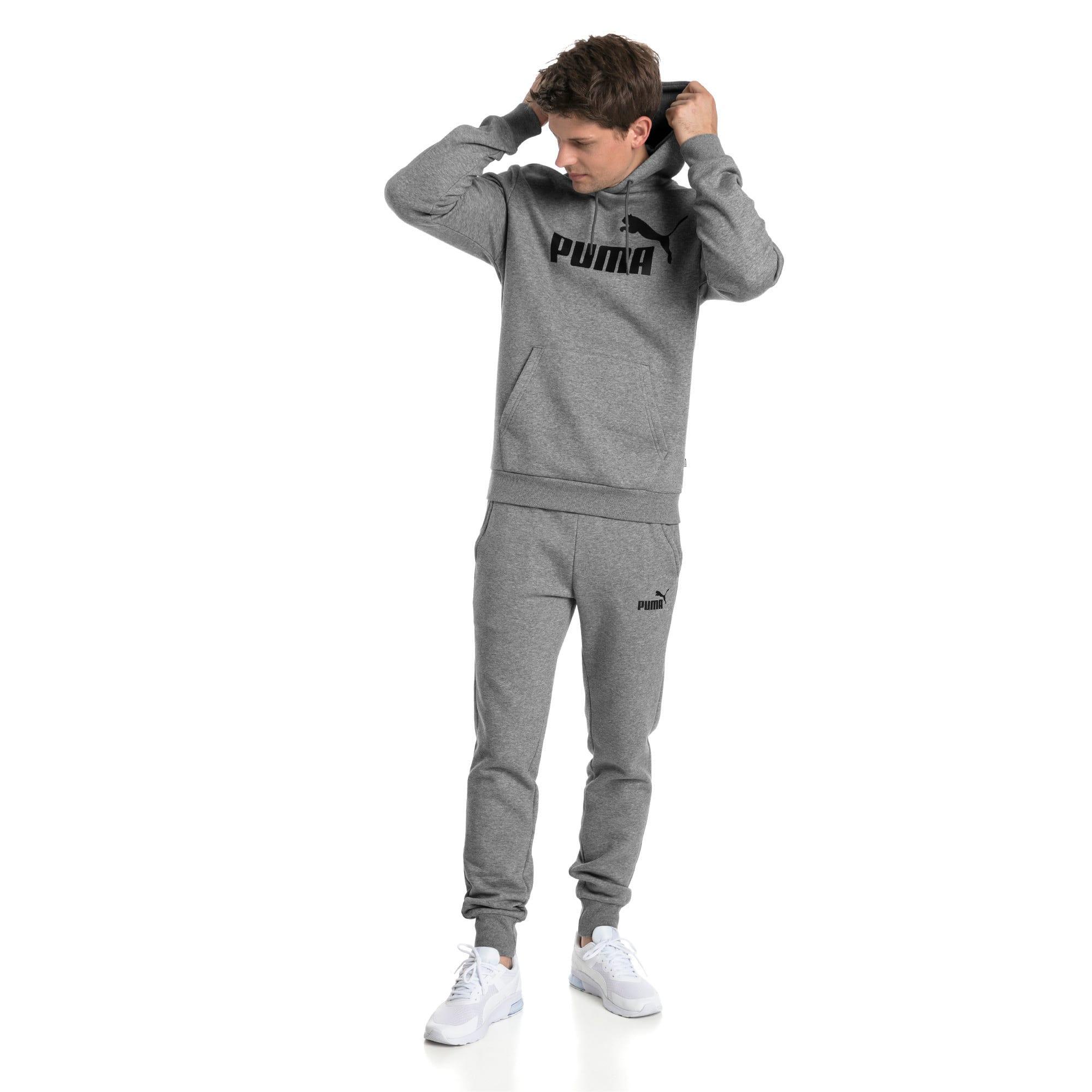 Thumbnail 3 van Essentials fleece hoodie voor mannen, Medium Gray Heather, medium