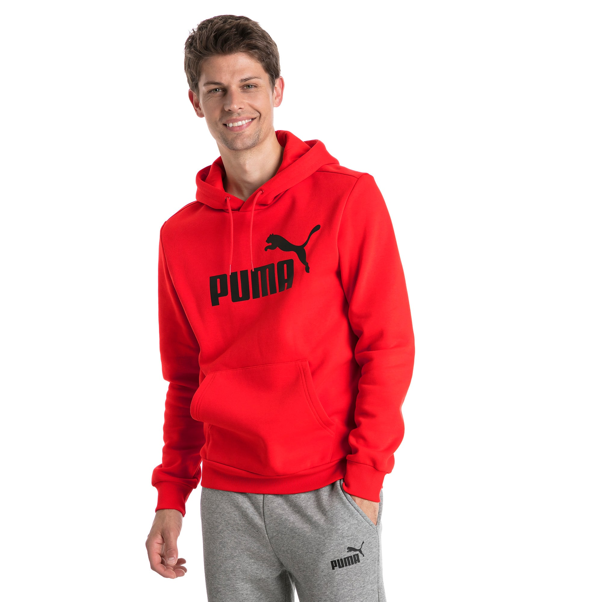 Thumbnail 1 of Essentials Fleece Men's Hoodie, Puma Red, medium
