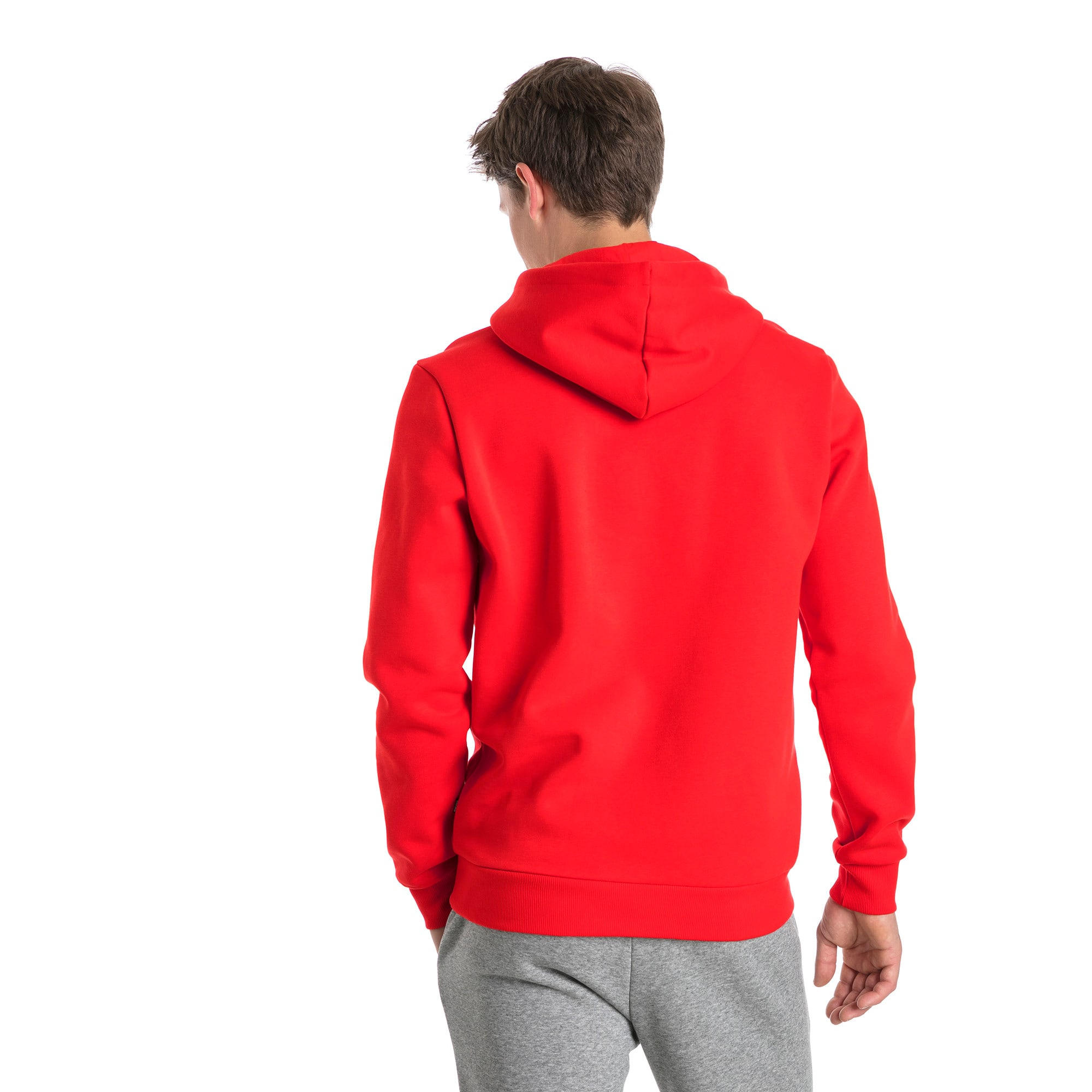 Thumbnail 2 of Essentials Fleece Men's Hoodie, Puma Red, medium