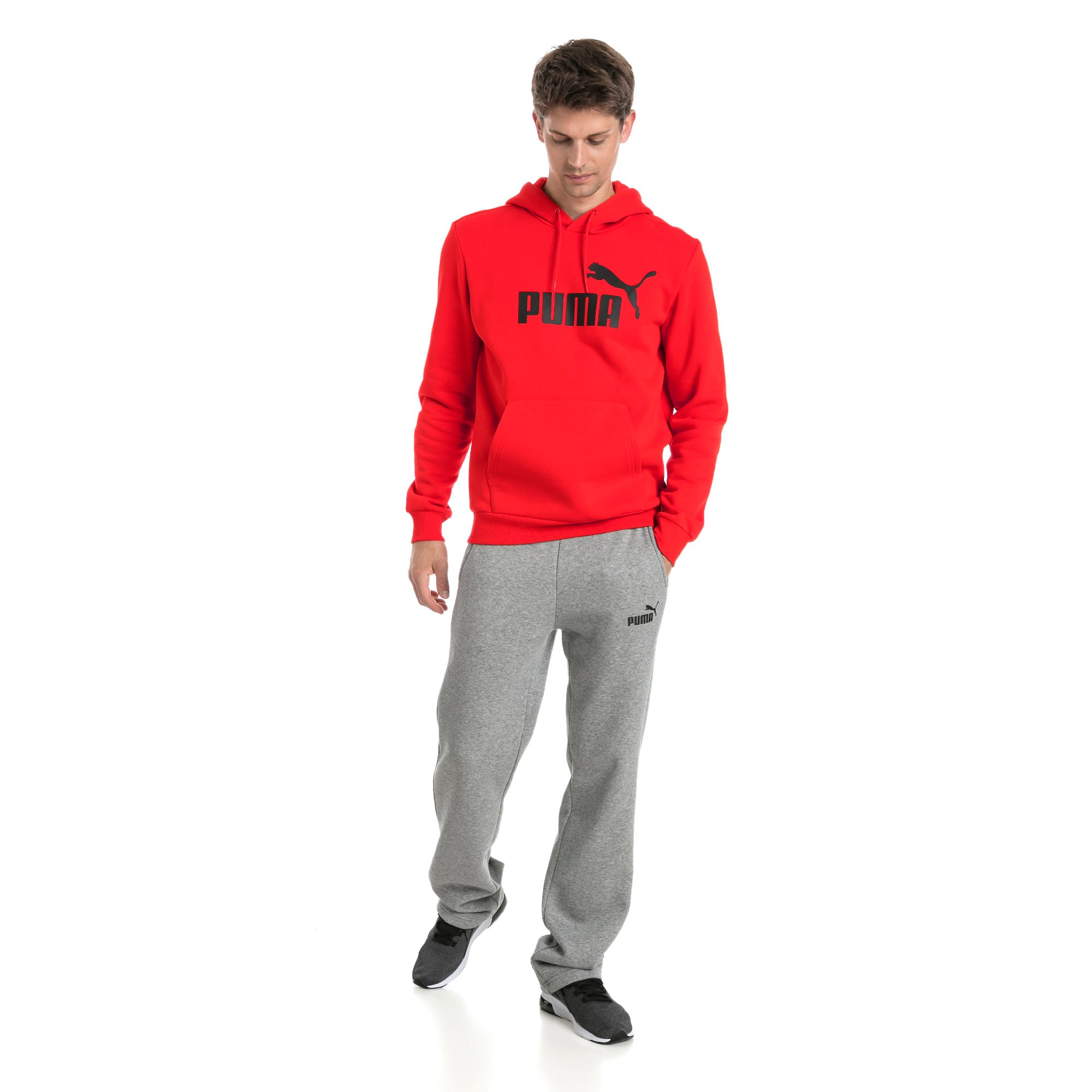 Thumbnail 3 of Essentials Fleece Men's Hoodie, Puma Red, medium