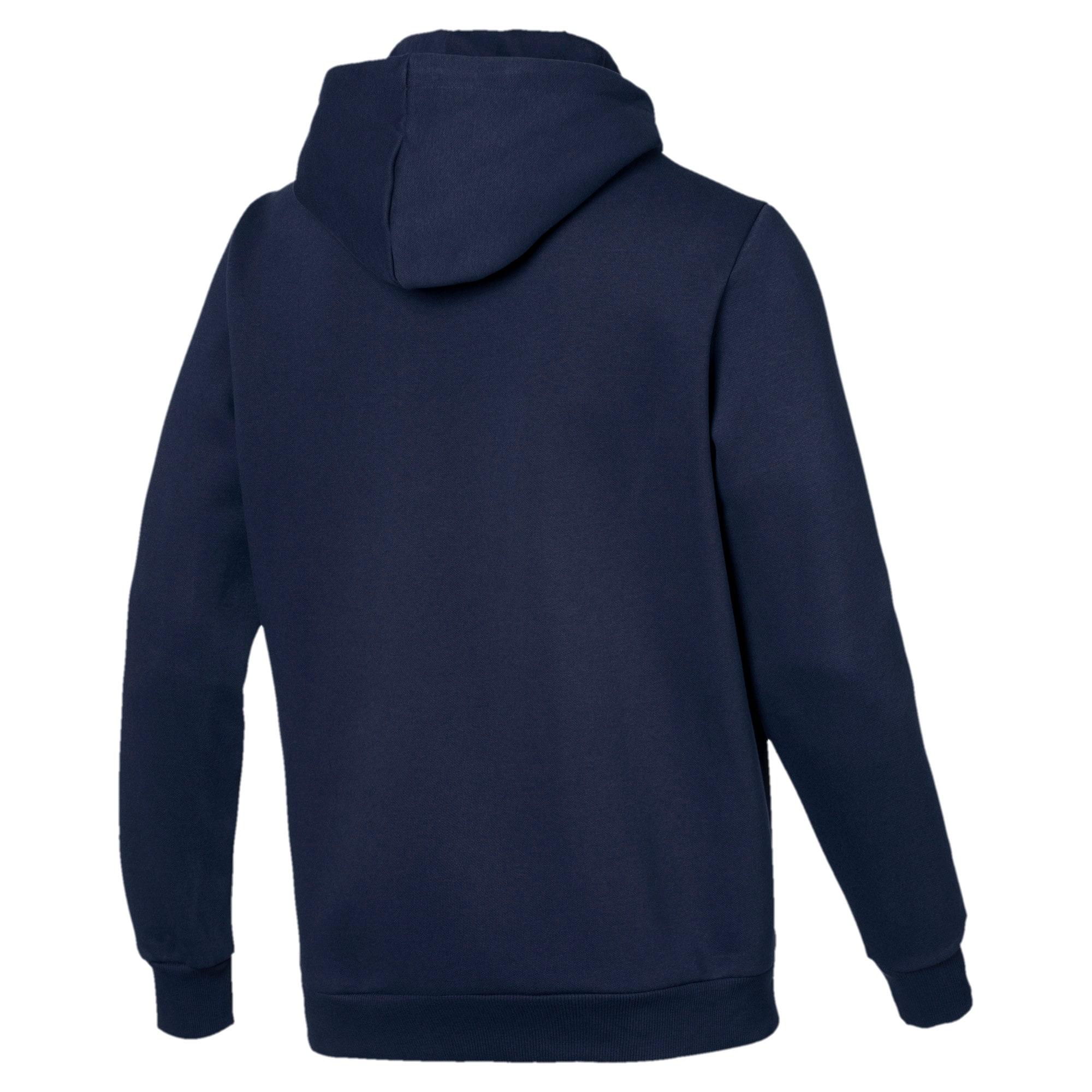 Thumbnail 5 van Essentials fleece hoodie voor mannen, Nachtblauw, medium