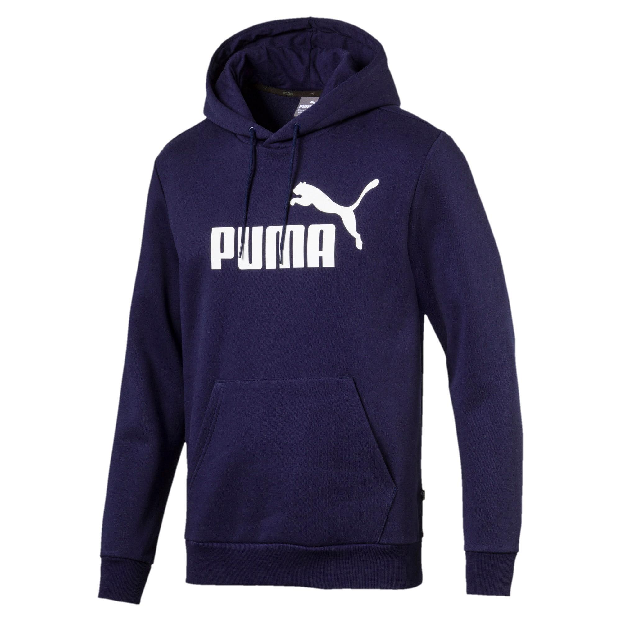 Thumbnail 4 van Essentials fleece hoodie voor mannen, Nachtblauw, medium