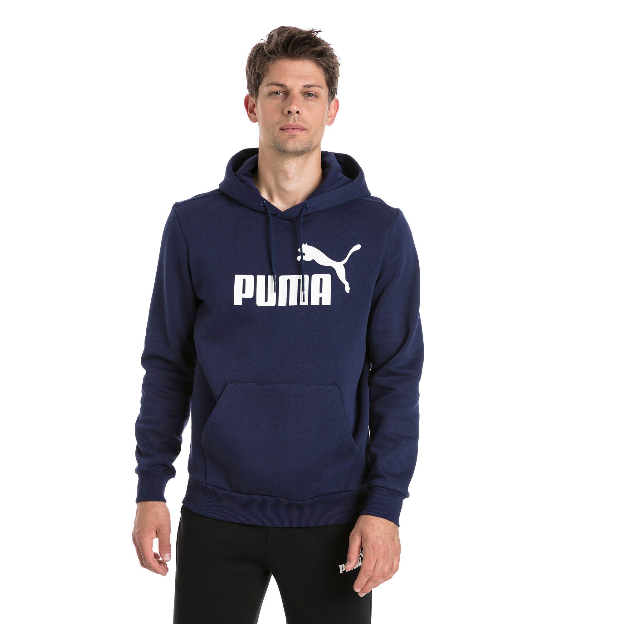 Thumbnail 1 van Essentials fleece hoodie voor mannen, Nachtblauw, medium