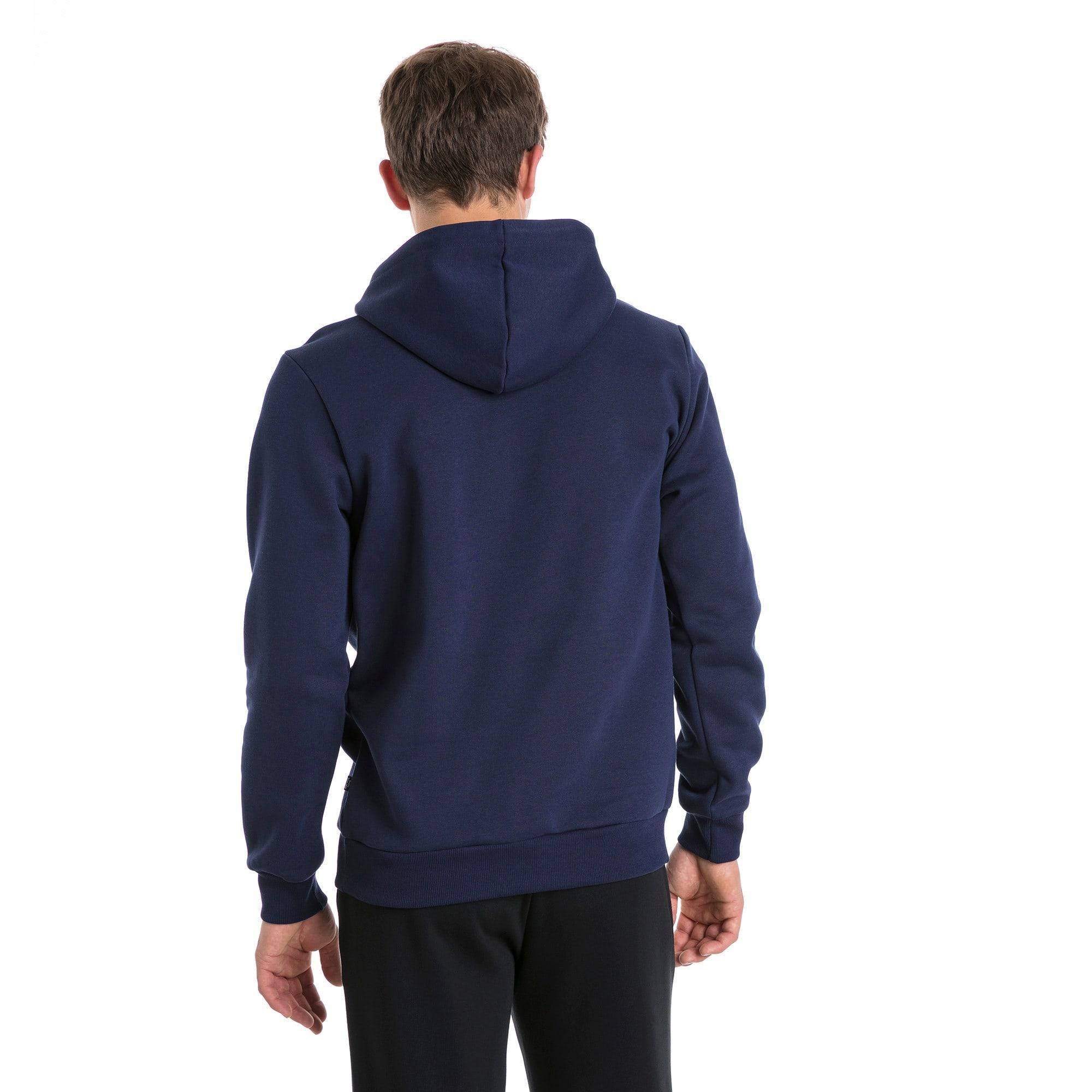 Thumbnail 2 van Essentials fleece hoodie voor mannen, Nachtblauw, medium
