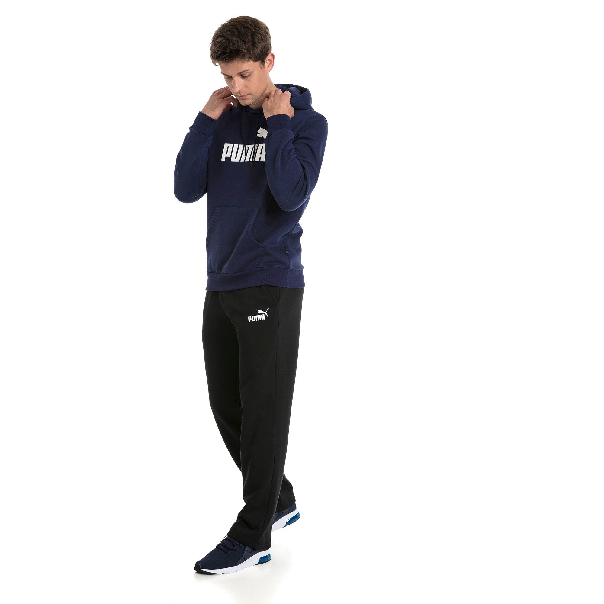 Thumbnail 3 van Essentials fleece hoodie voor mannen, Nachtblauw, medium