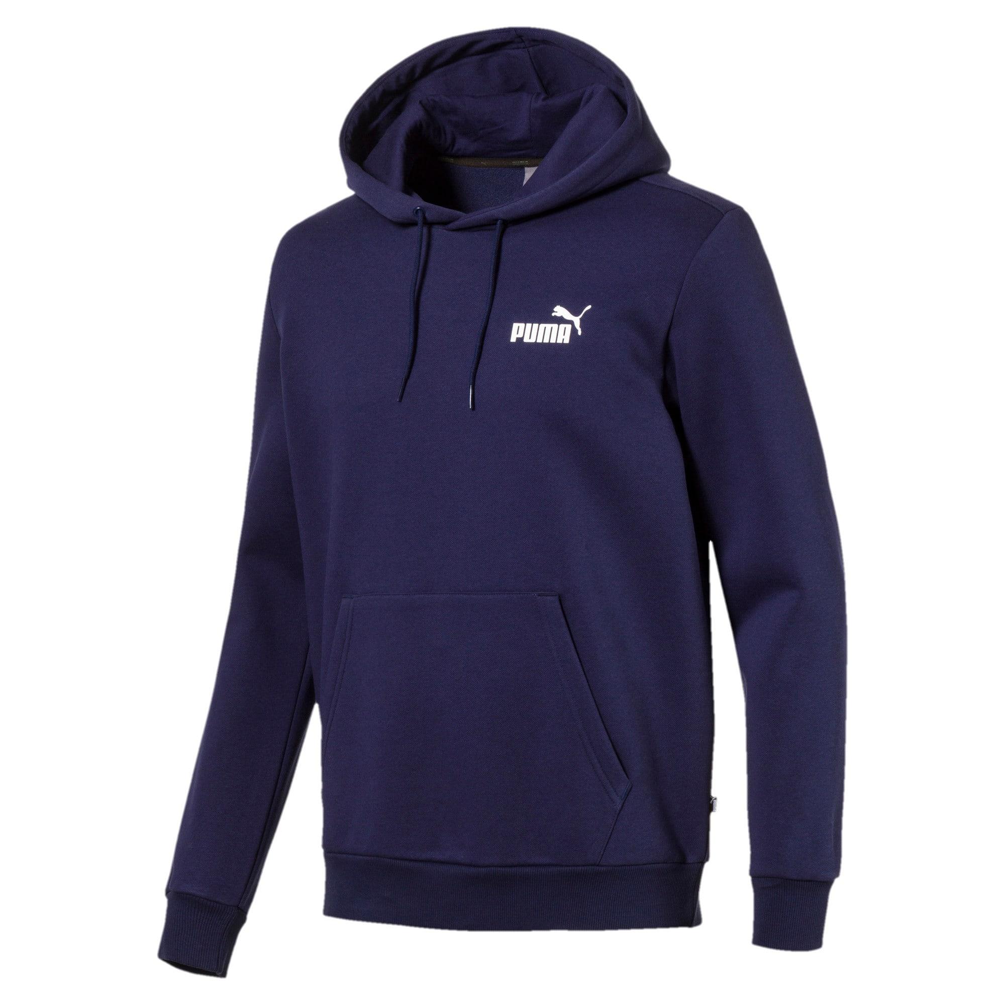 Thumbnail 1 van Fleece hoodie voor mannen, Nachtblauw, medium