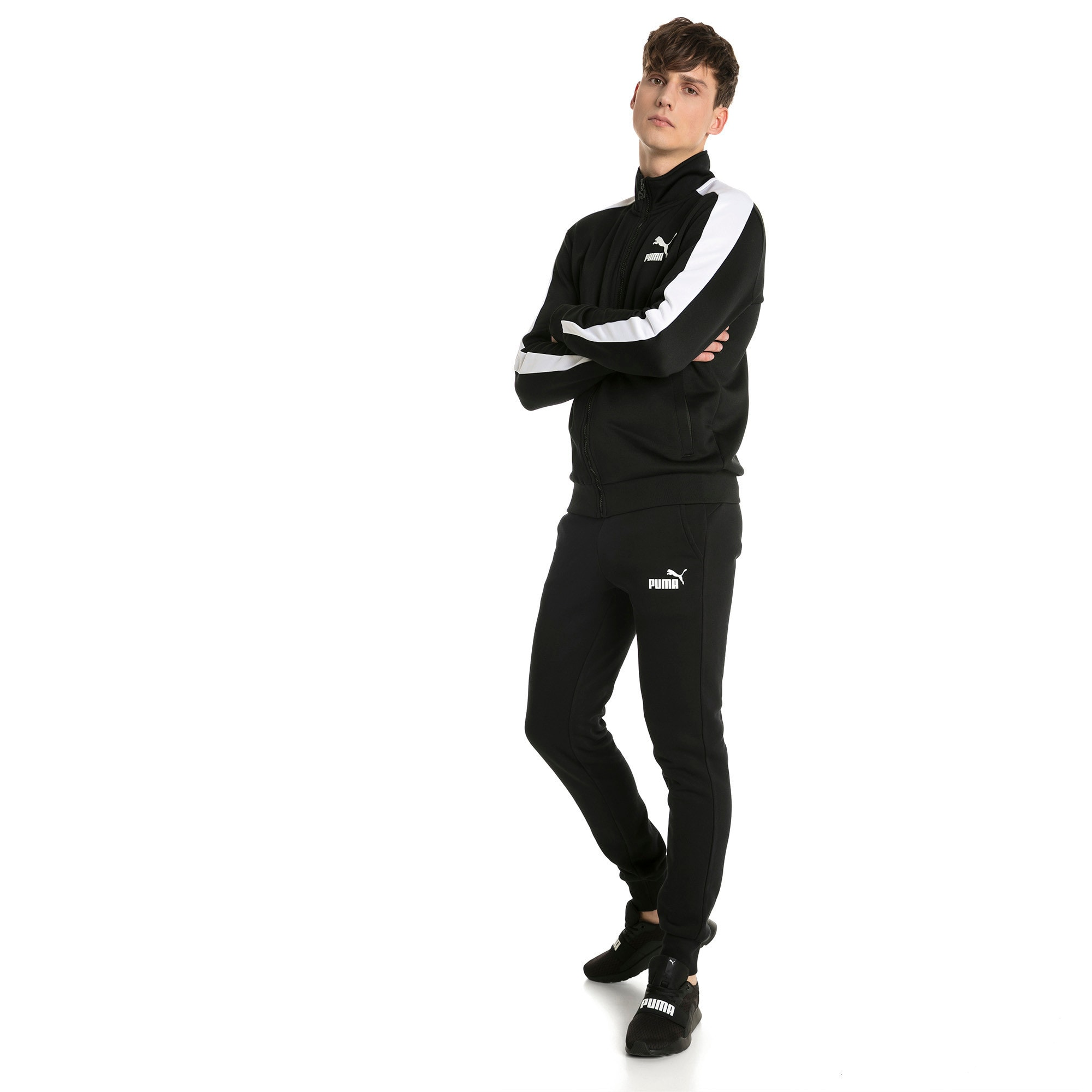 Thumbnail 3 of Essentials Herren Fleece Jogginghose, Puma Black, medium