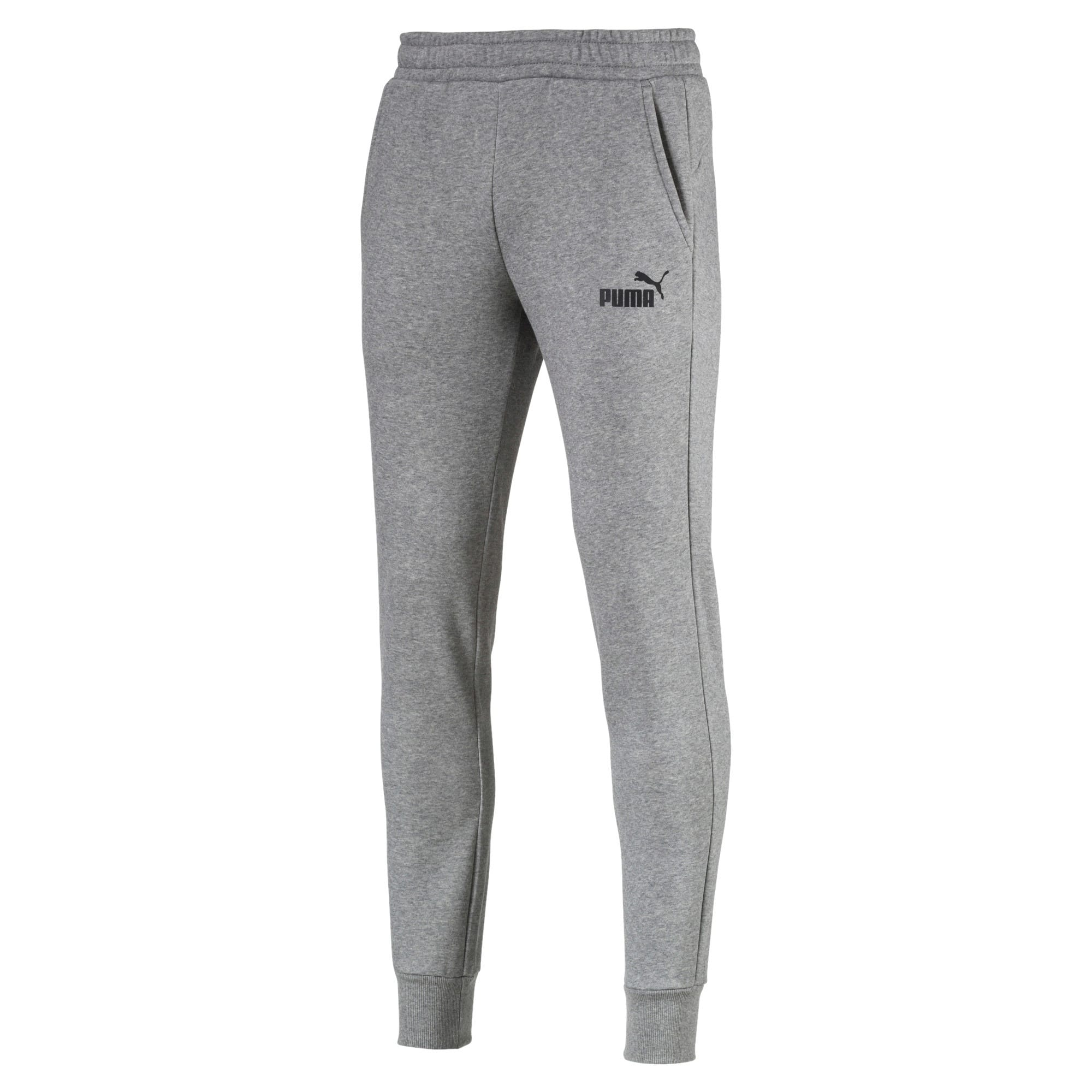 Thumbnail 2 of Essentials Men's Fleece Knit Pants, Medium Gray Heather, medium