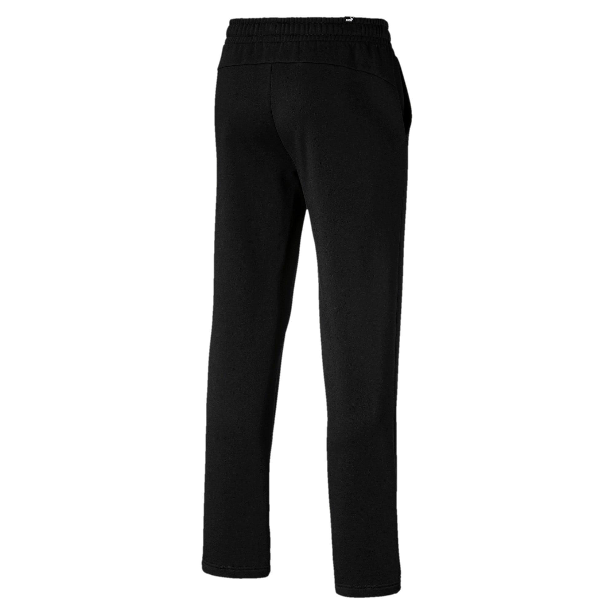 Thumbnail 2 of Essentials Men's Fleece Pants, Puma Black, medium