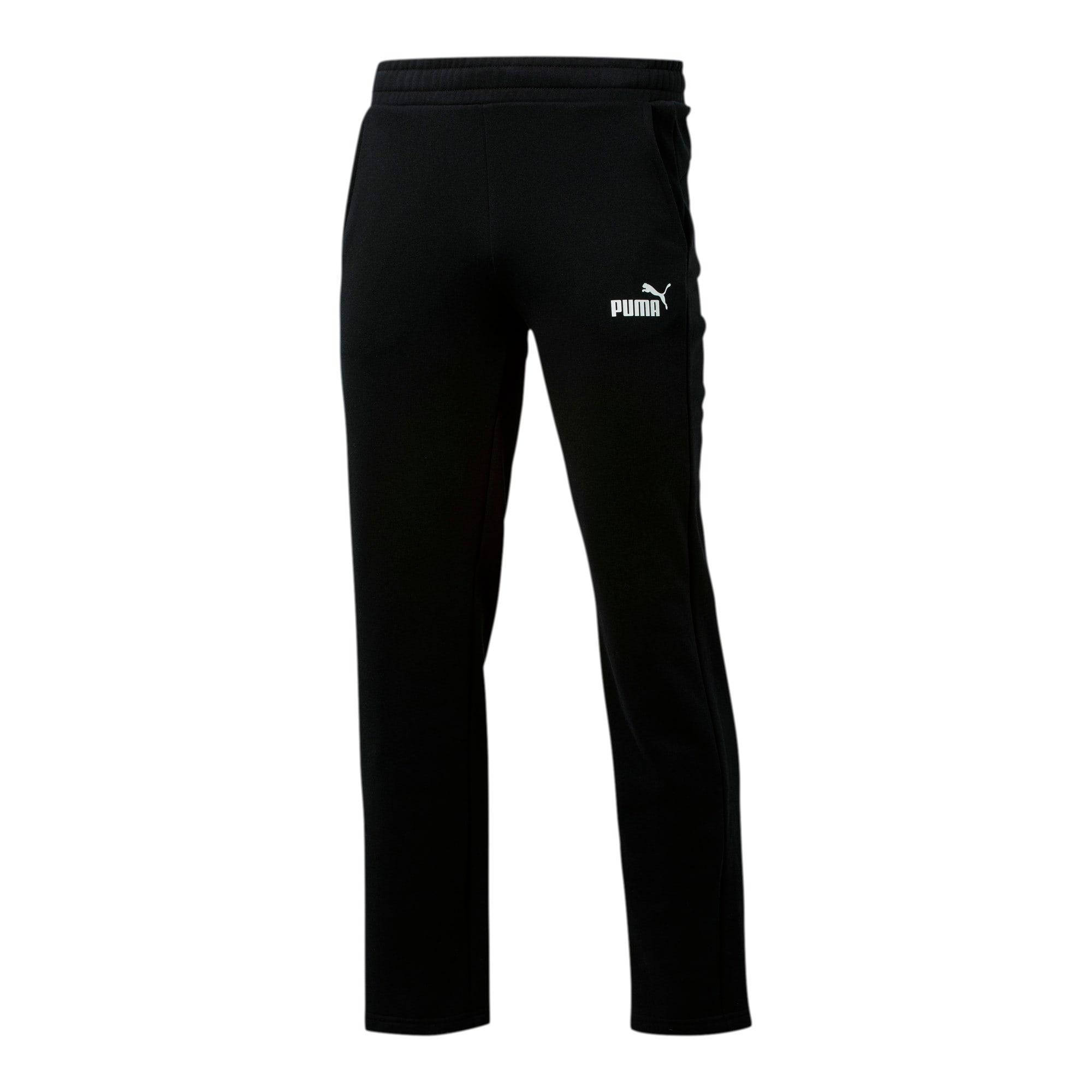 Thumbnail 1 of Essentials Men's Fleece Pants, Puma Black, medium