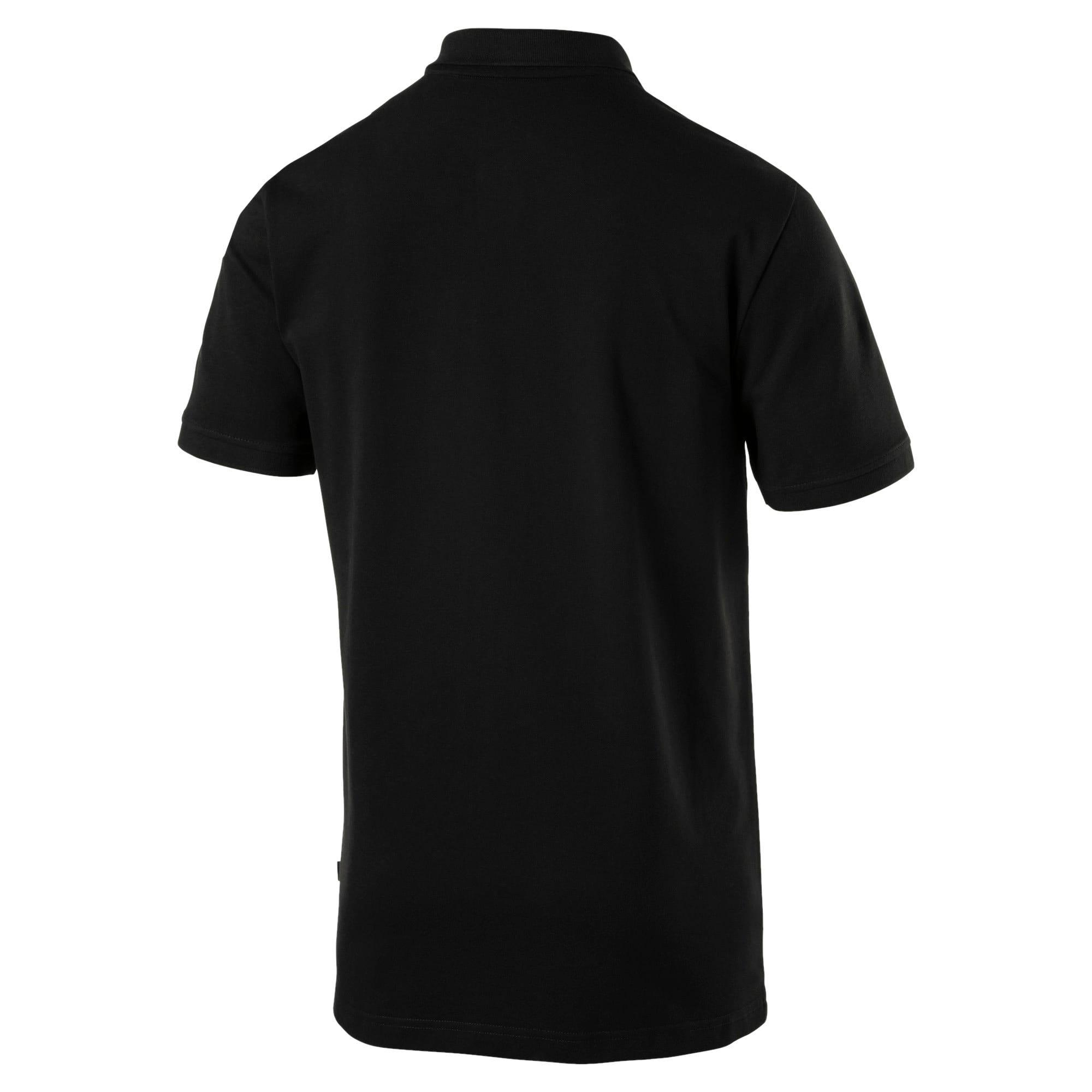 Thumbnail 5 of Essential poloshirt met korte mouwen voor heren, Cotton Black, medium
