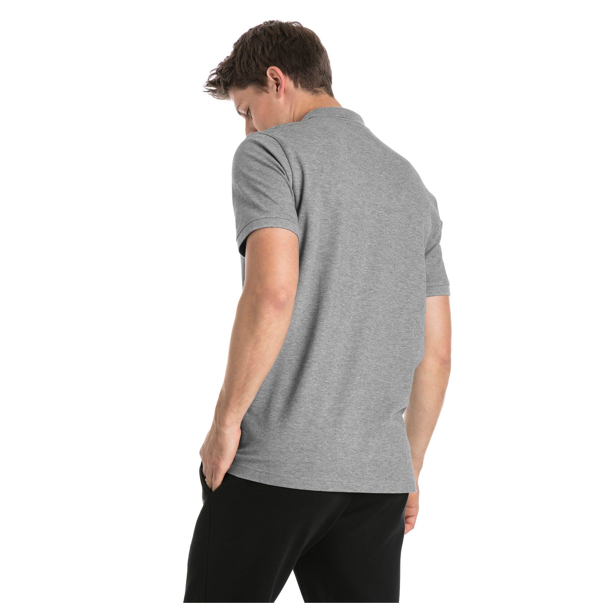 Thumbnail 2 of Essential poloshirt met korte mouwen voor heren, Medium Gray Heather, medium
