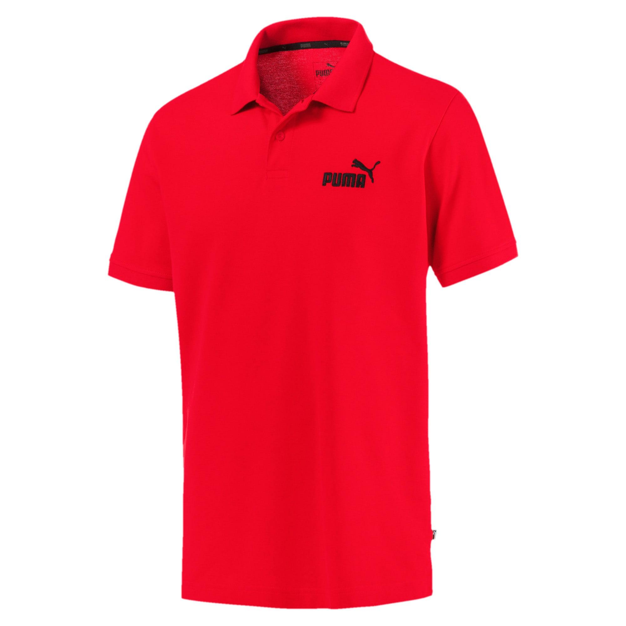 Thumbnail 4 van Essential polo met korte mouwen voor mannen, Puma Red, medium