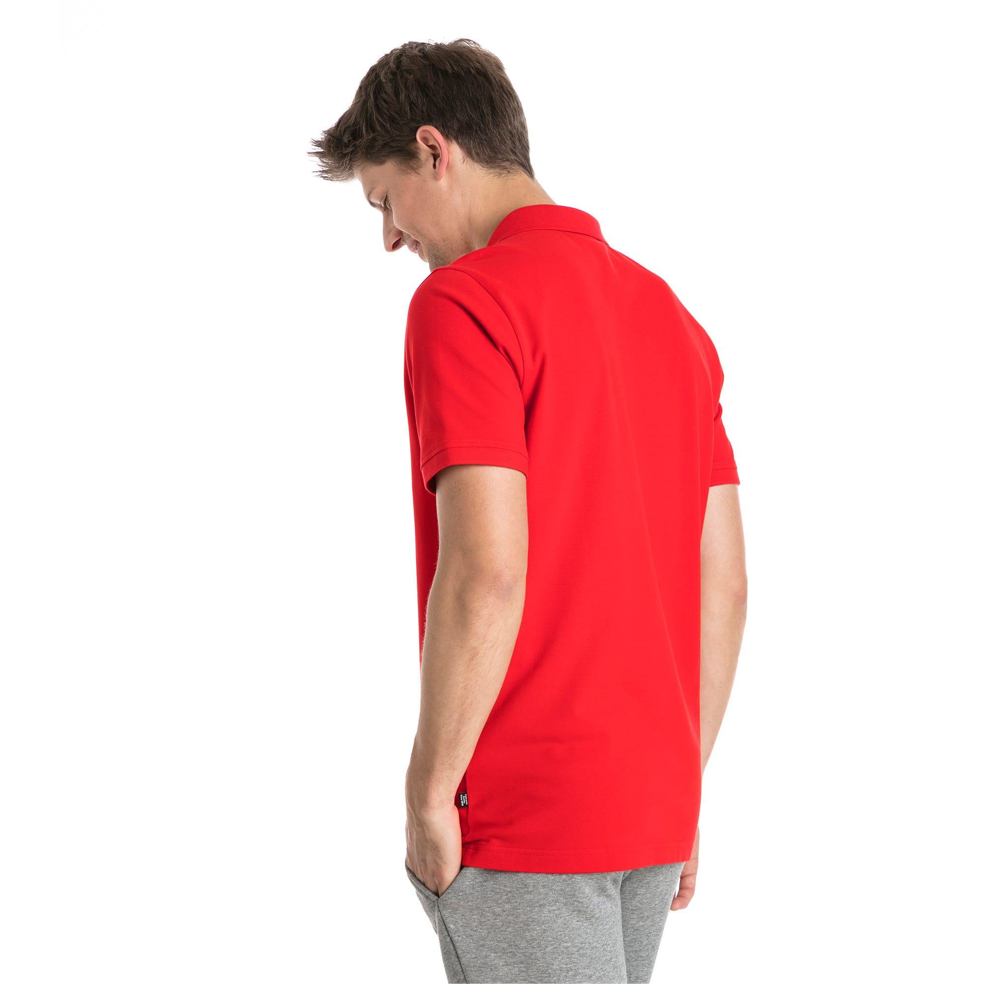 Thumbnail 2 van Essential polo met korte mouwen voor mannen, Puma Red, medium