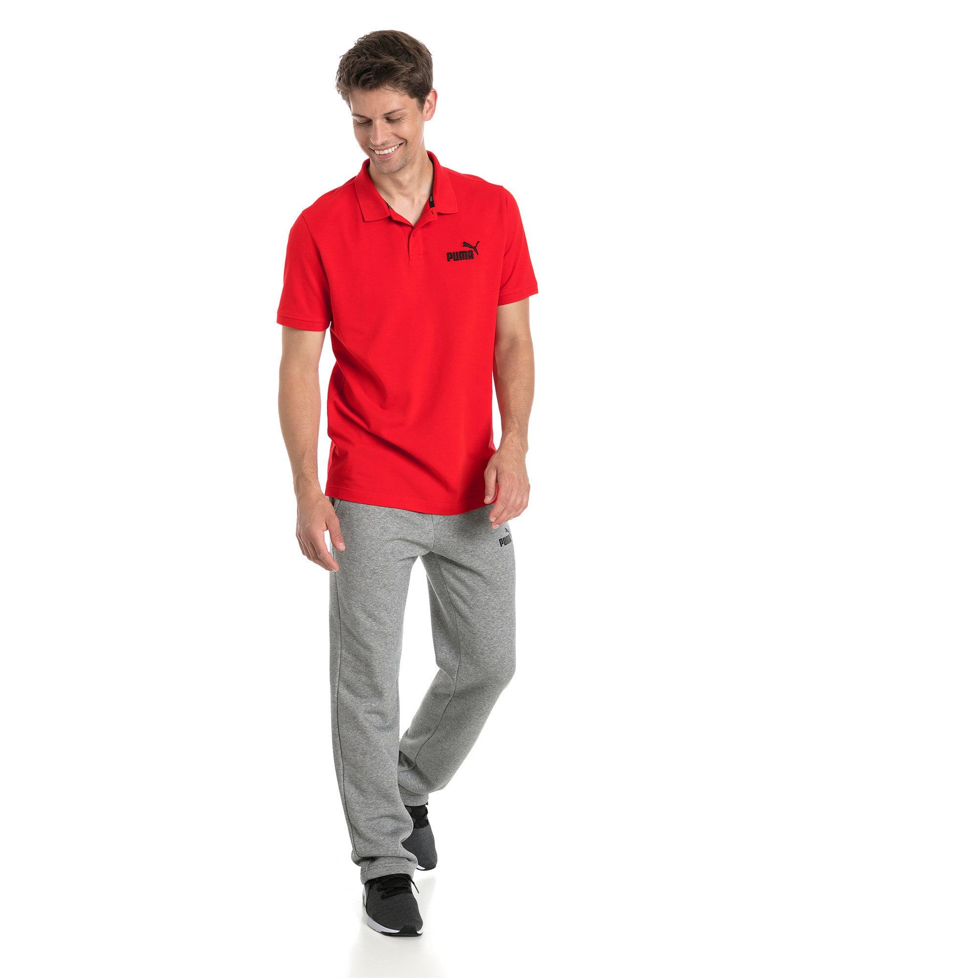 Thumbnail 3 van Essential polo met korte mouwen voor mannen, Puma Red, medium