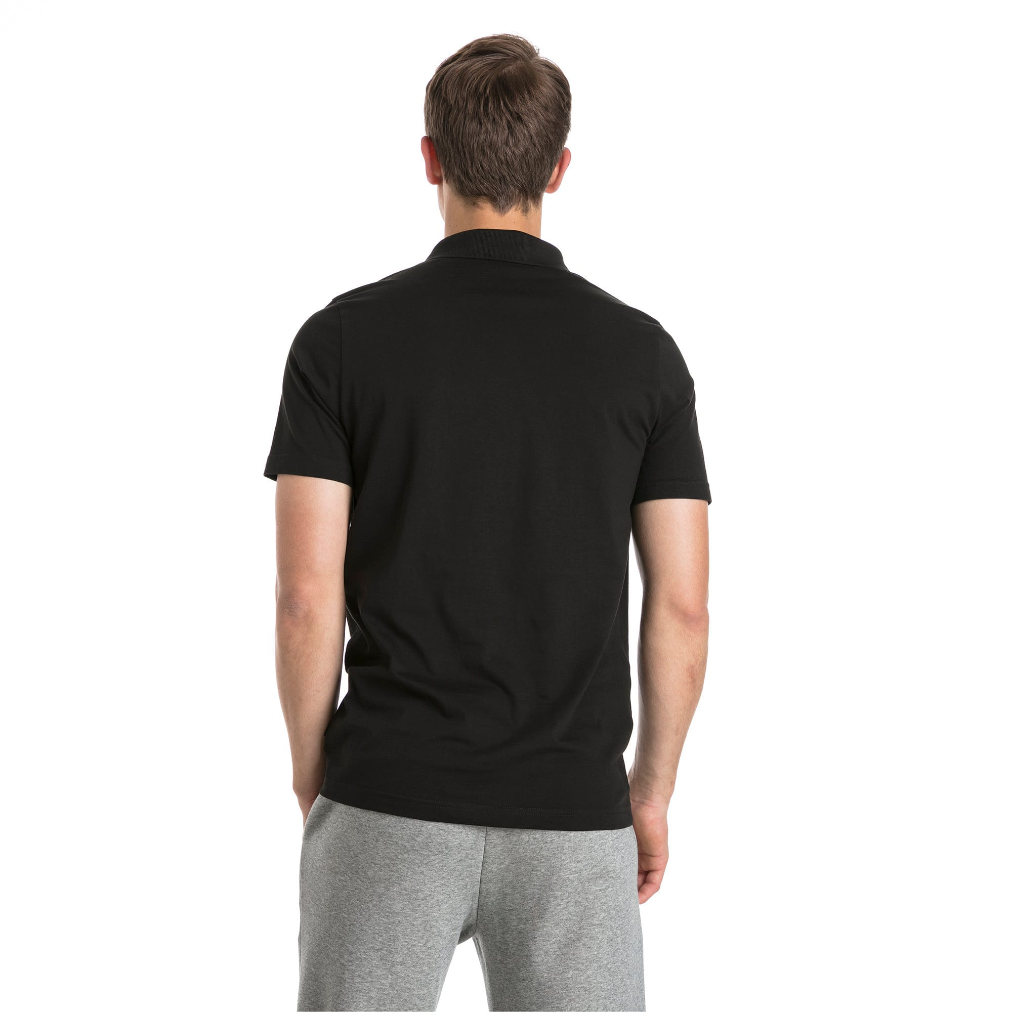 Thumbnail 2 of Polo in jersey Essentials uomo, Cotton Black, medium