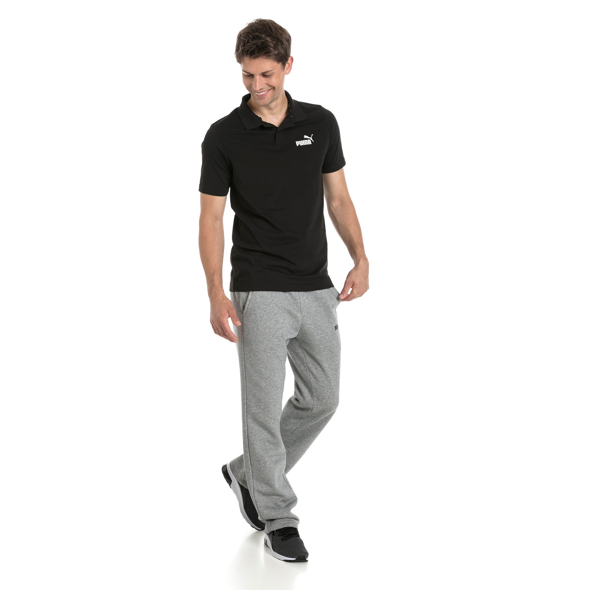 Thumbnail 3 of Polo in jersey Essentials uomo, Cotton Black, medium