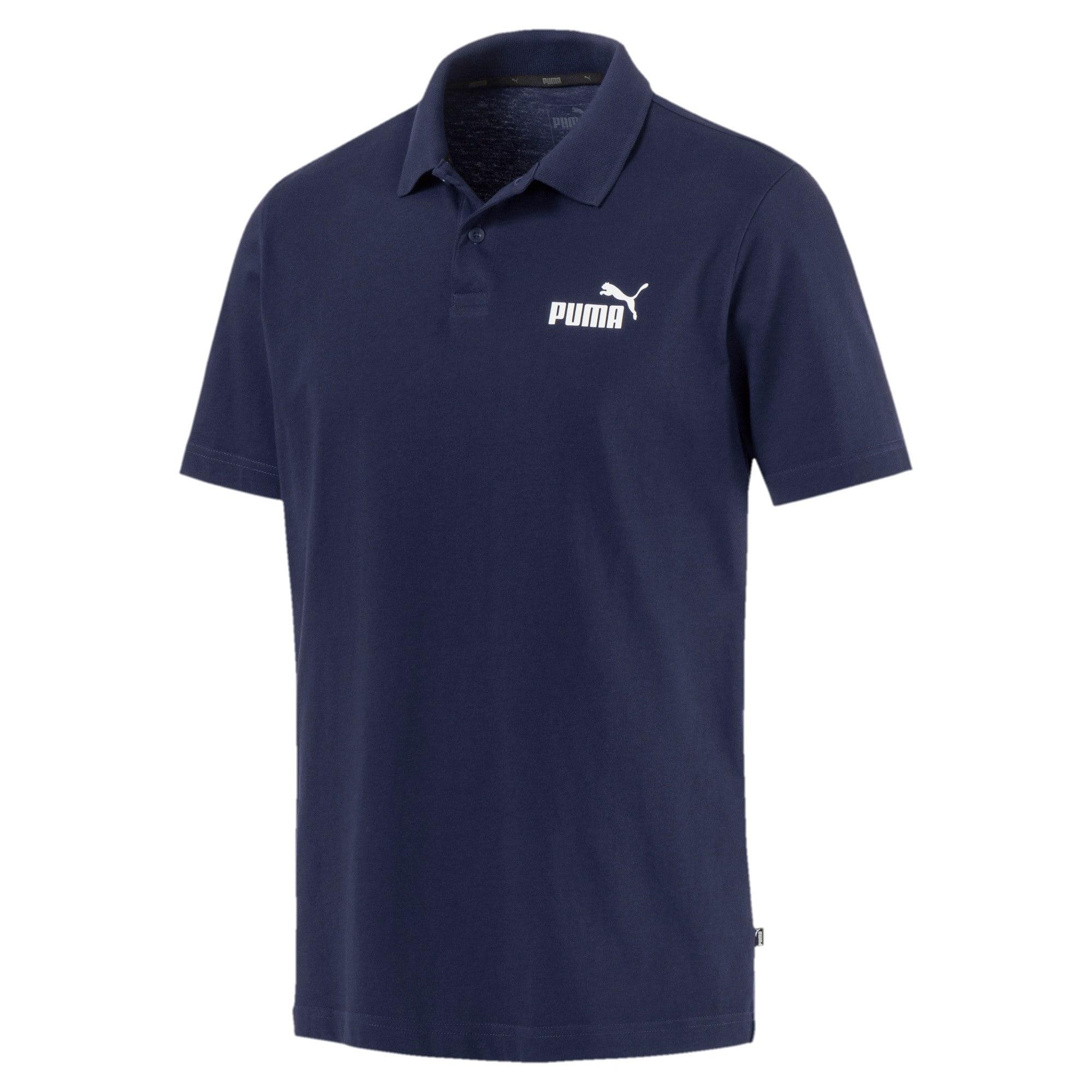 Thumbnail 4 of Polo in jersey Essentials uomo, Peacoat, medium
