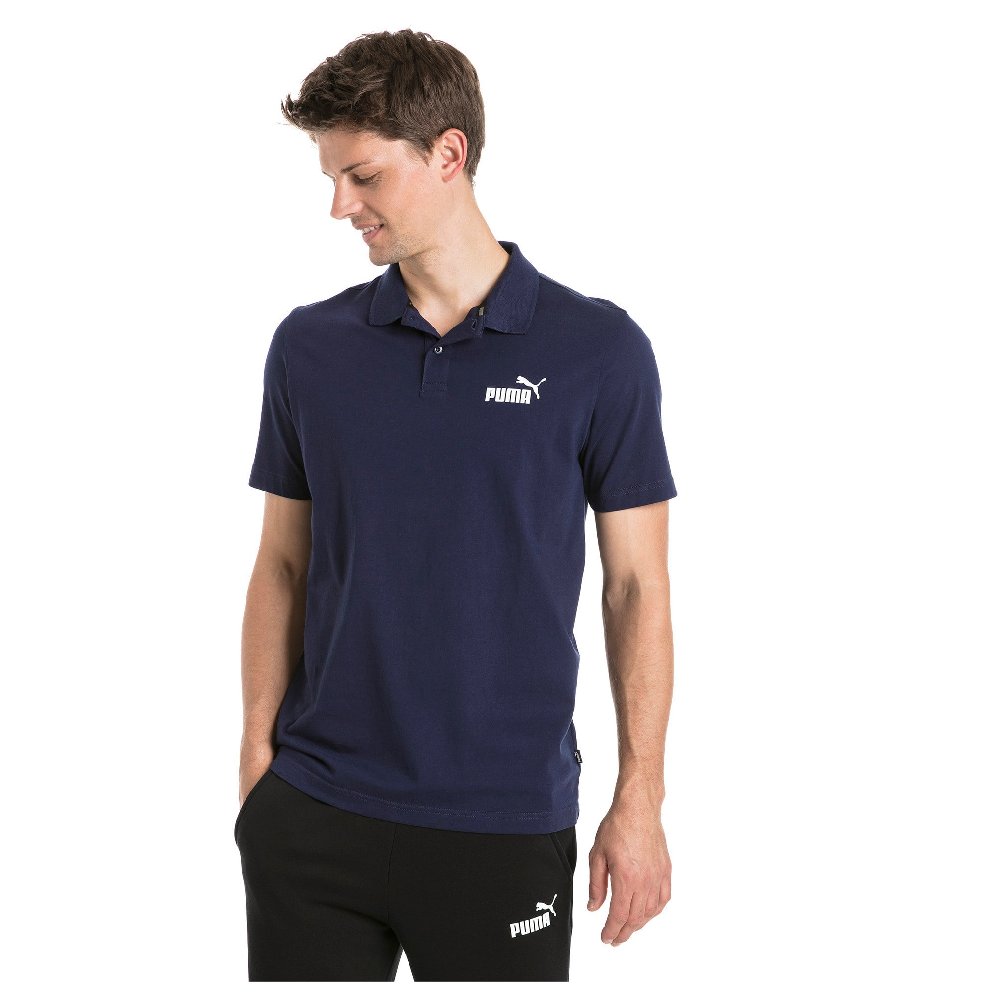 Thumbnail 1 of Polo in jersey Essentials uomo, Peacoat, medium